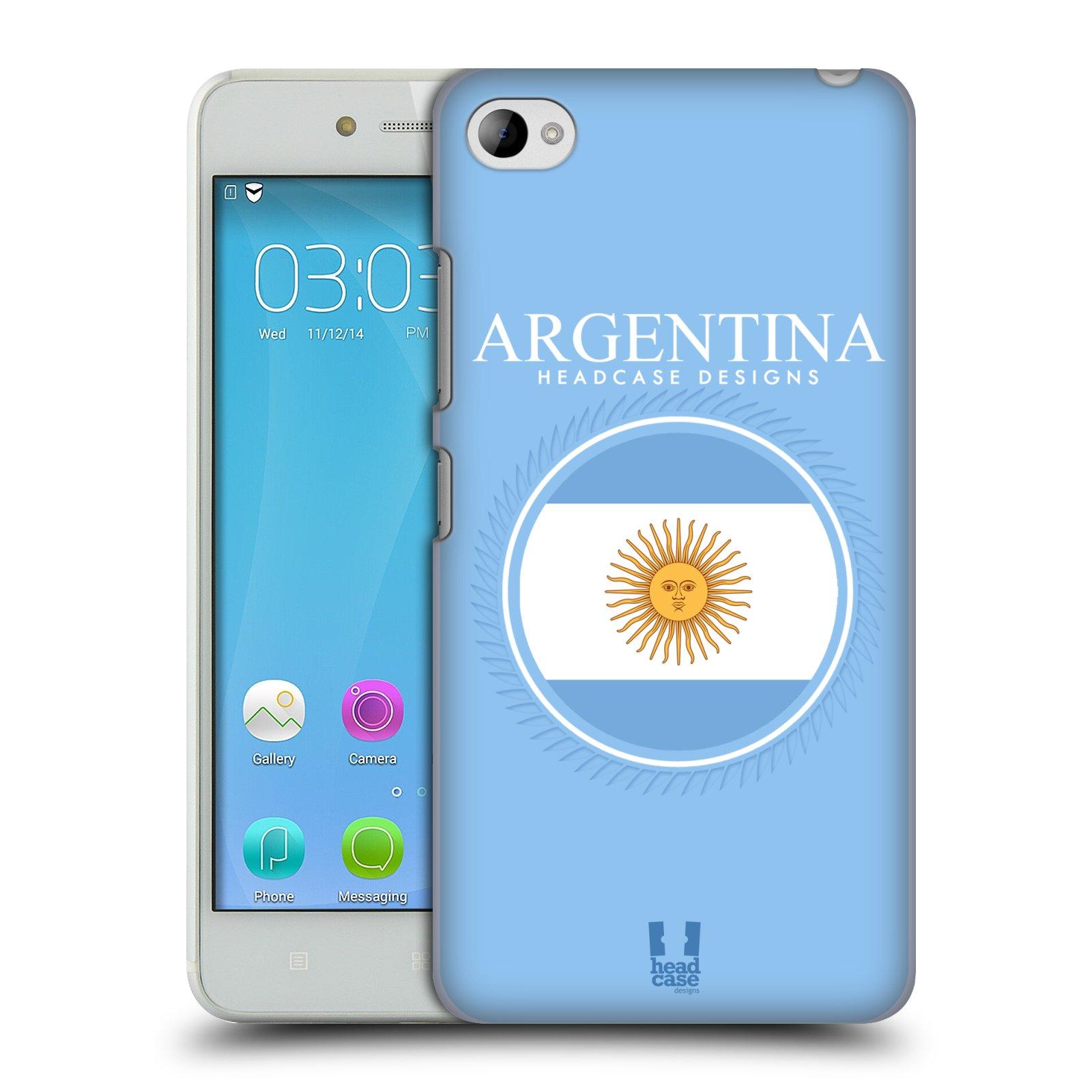HEAD CASE pevný plastový obal na mobil LENOVO S90 vzor Vlajky státy kreslené ARGENTINA