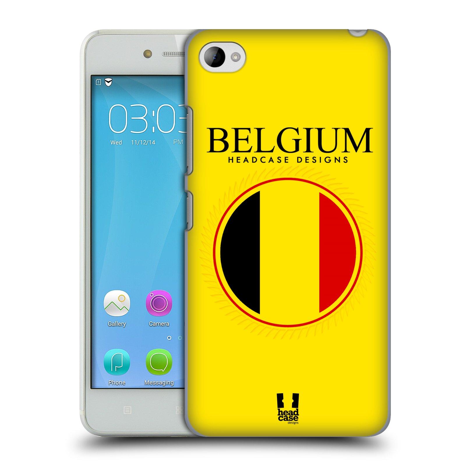 HEAD CASE pevný plastový obal na mobil LENOVO S90 vzor Vlajky státy kreslené BELGIE