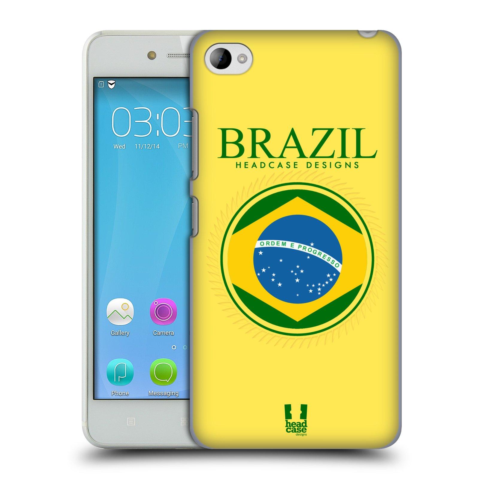 HEAD CASE pevný plastový obal na mobil LENOVO S90 vzor Vlajky státy kreslené BRAZÍLIE