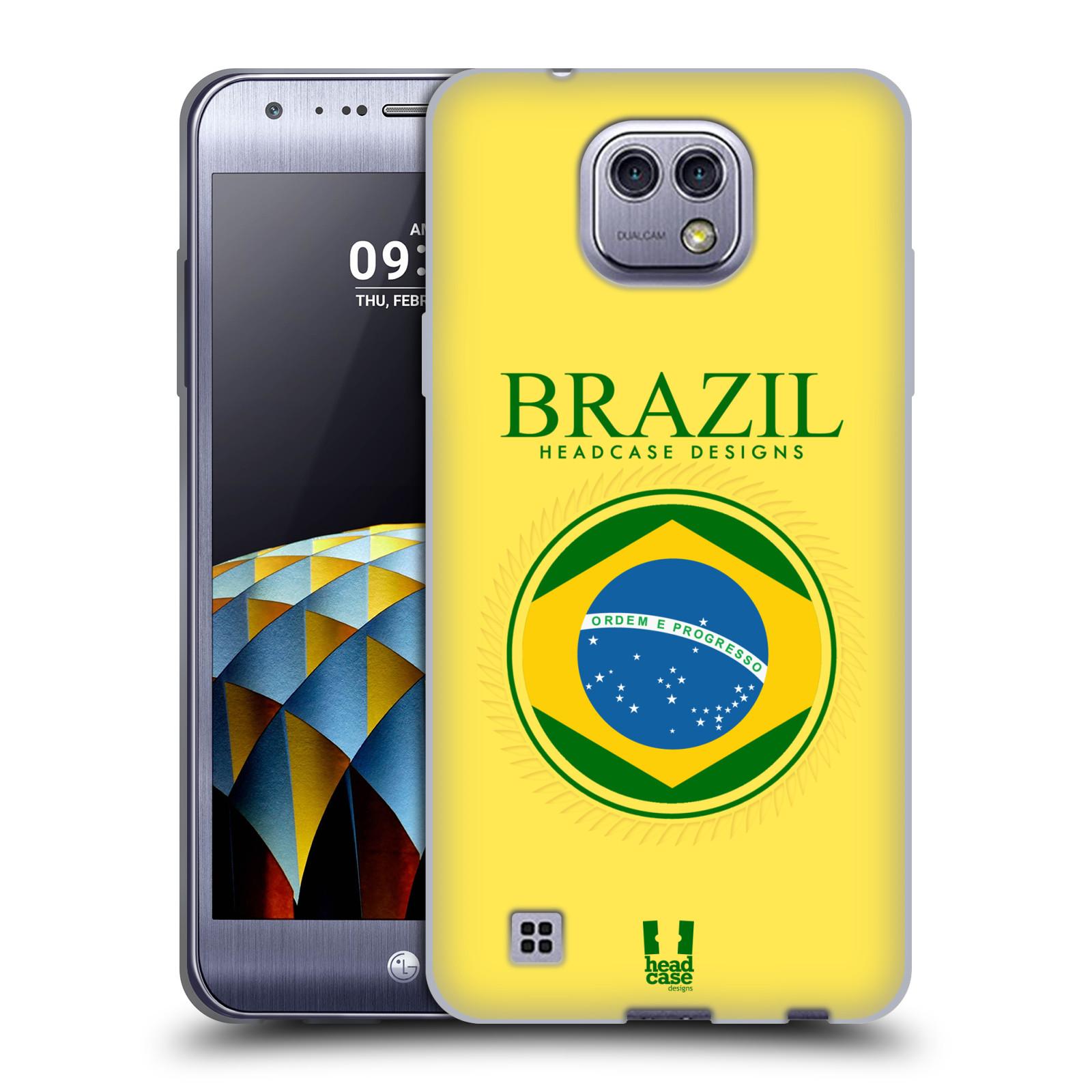 HEAD CASE silikonový obal na mobil LG X Cam vzor Vlajky státy kreslené BRAZÍLIE