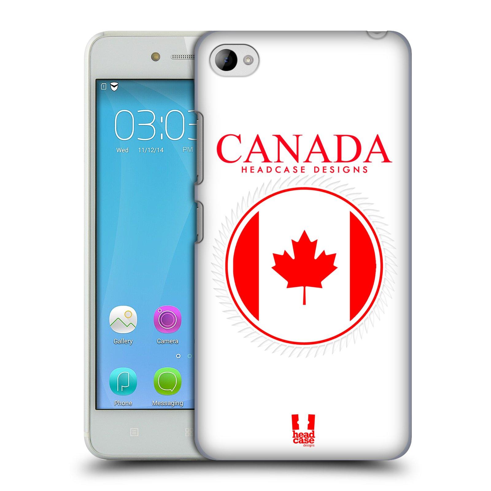 HEAD CASE pevný plastový obal na mobil LENOVO S90 vzor Vlajky státy kreslené KANADA