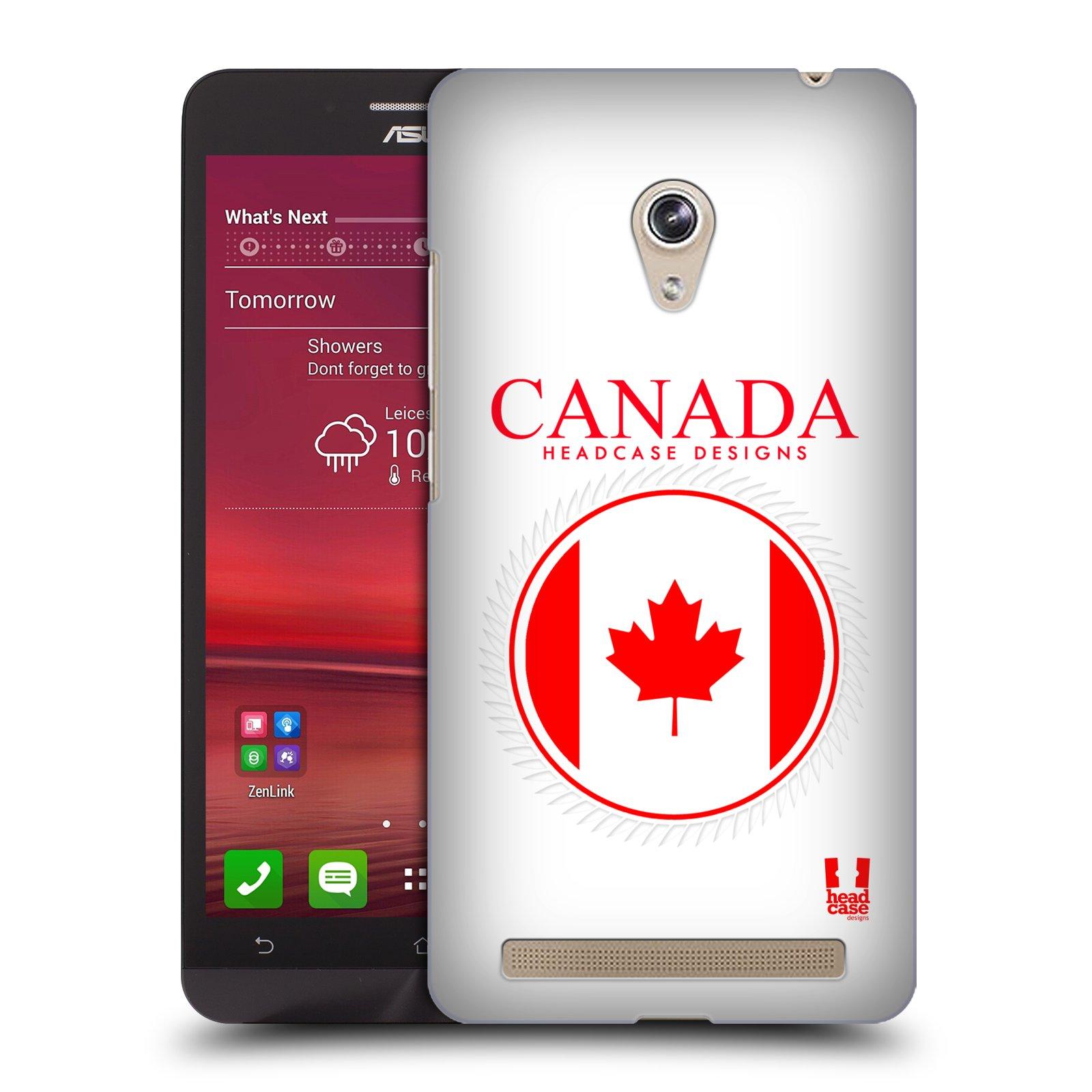 HEAD CASE plastový obal na mobil Asus Zenfone 6 vzor Vlajky státy kreslené KANADA