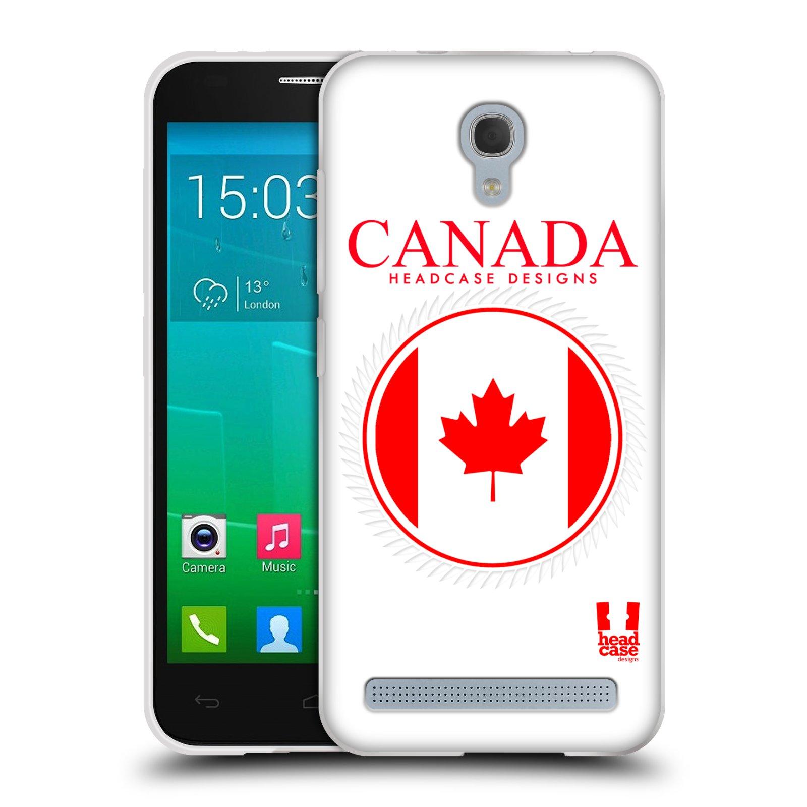 HEAD CASE silikonový obal na mobil Alcatel Idol 2 MINI S 6036Y vzor Vlajky státy kreslené KANADA