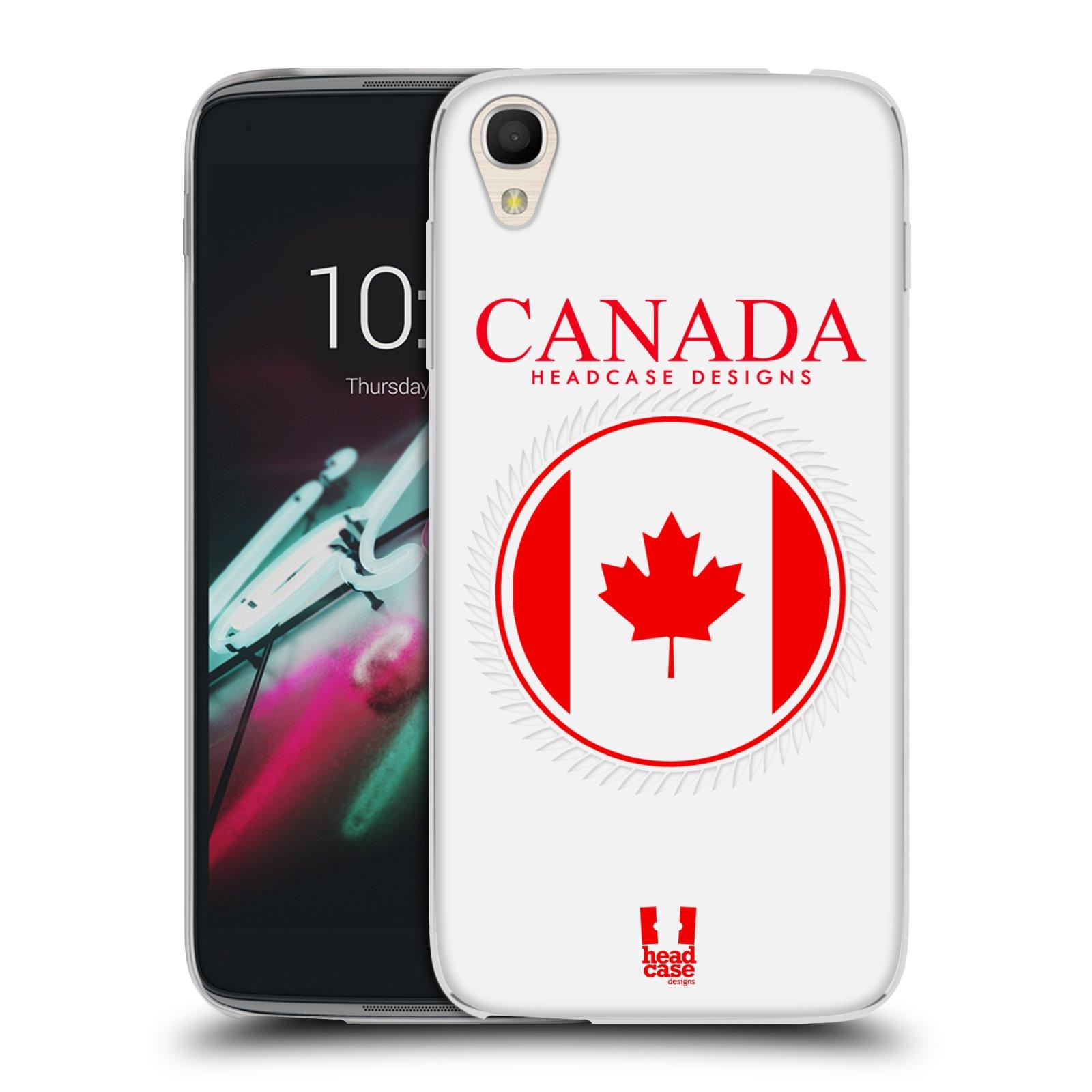 HEAD CASE silikonový obal na mobil Alcatel Idol 3 OT-6039Y (4.7) vzor Vlajky státy kreslené KANADA