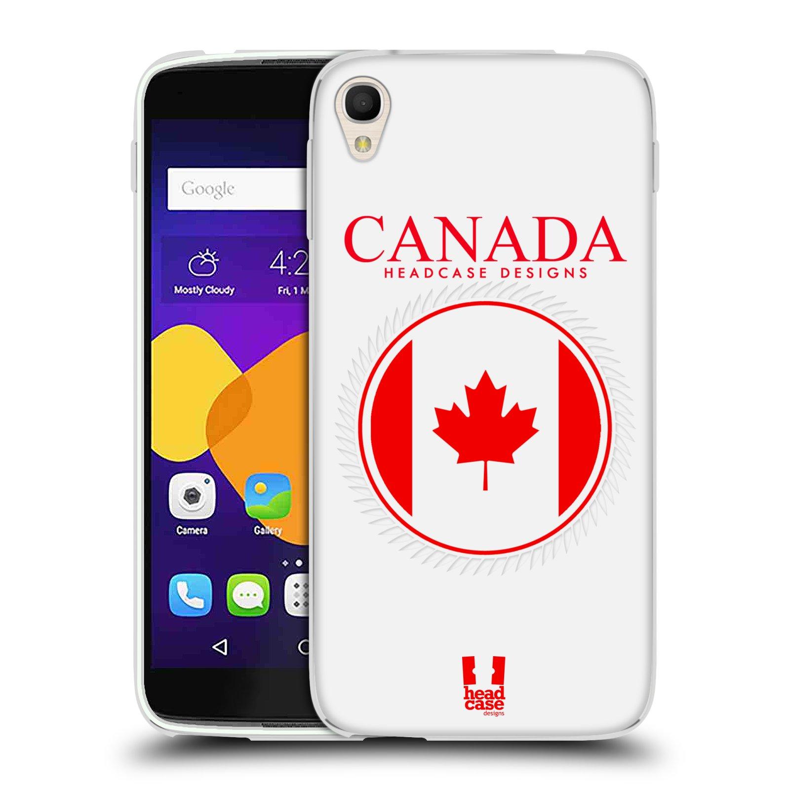 HEAD CASE silikonový obal na mobil Alcatel Idol 3 OT-6045Y (5.5) vzor Vlajky státy kreslené KANADA