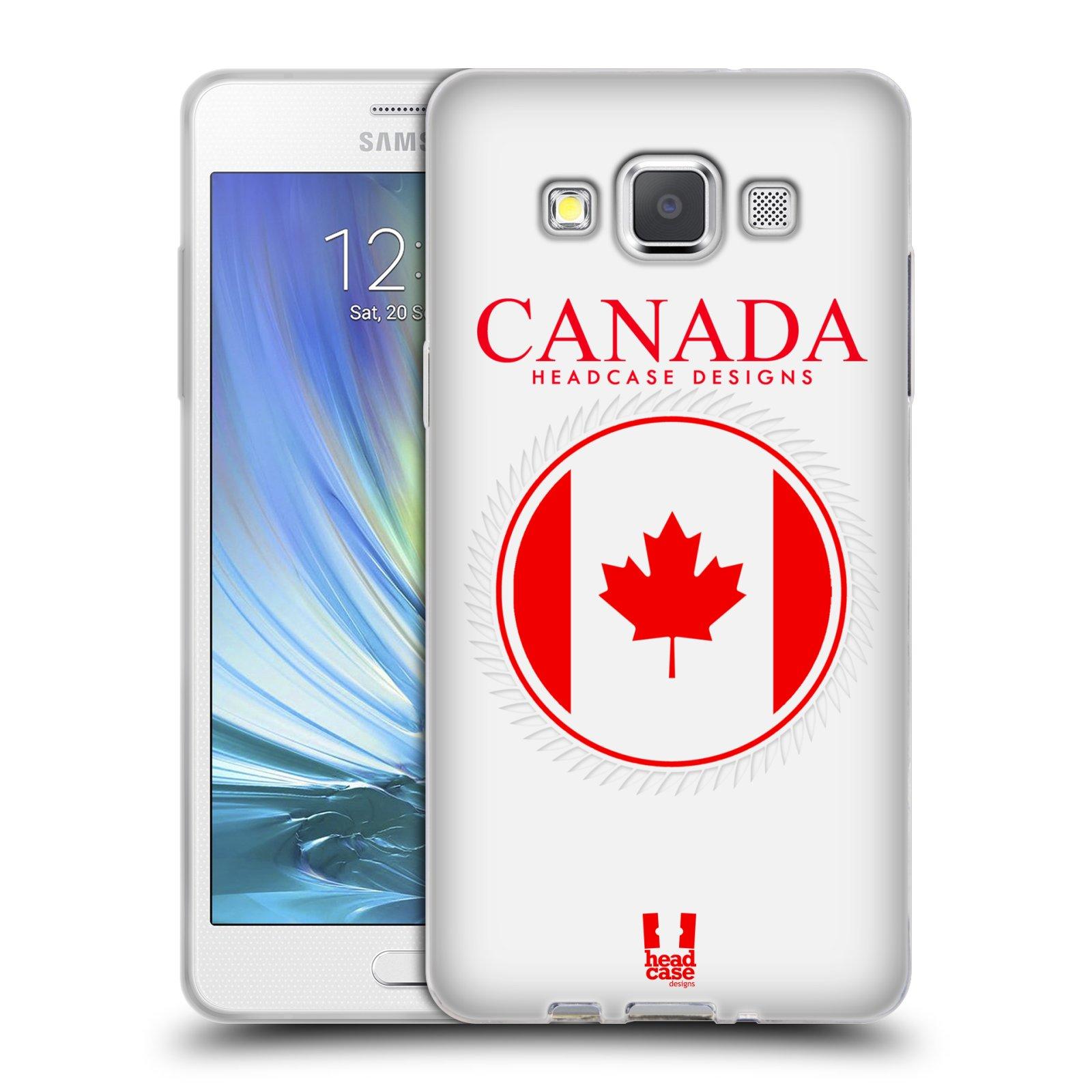 HEAD CASE silikonový obal na mobil Samsung Galaxy A5 vzor Vlajky státy kreslené KANADA