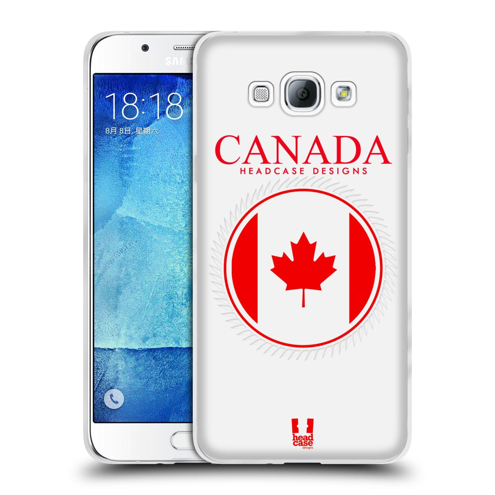 HEAD CASE silikonový obal na mobil Samsung Galaxy A8 vzor Vlajky státy kreslené KANADA