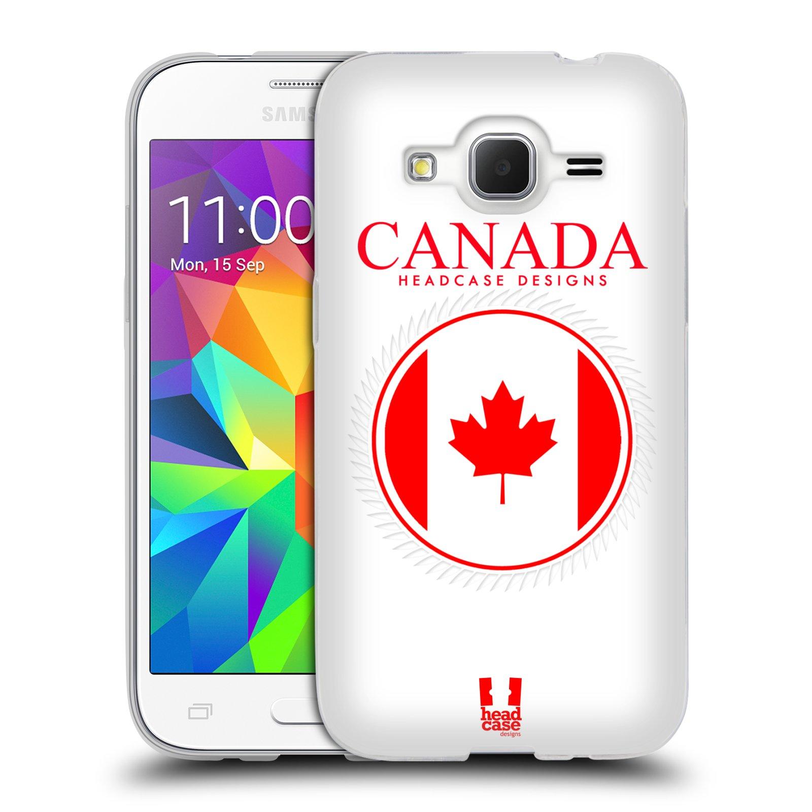 HEAD CASE silikonový obal na mobil Samsung Galaxy Core Prime (G360) vzor Vlajky státy kreslené KANADA
