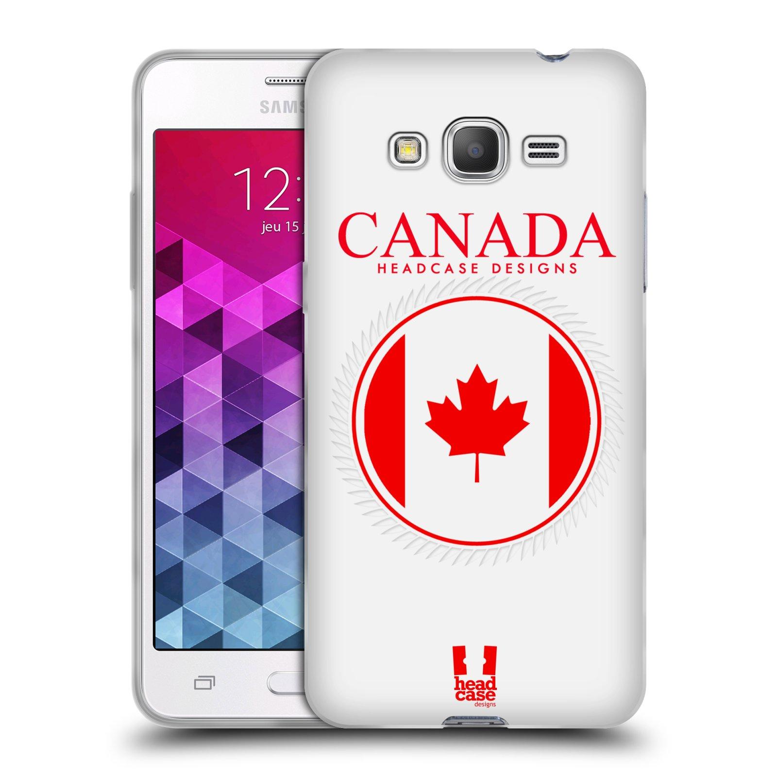 HEAD CASE silikonový obal na mobil Samsung Galaxy GRAND PRIME vzor Vlajky státy kreslené KANADA