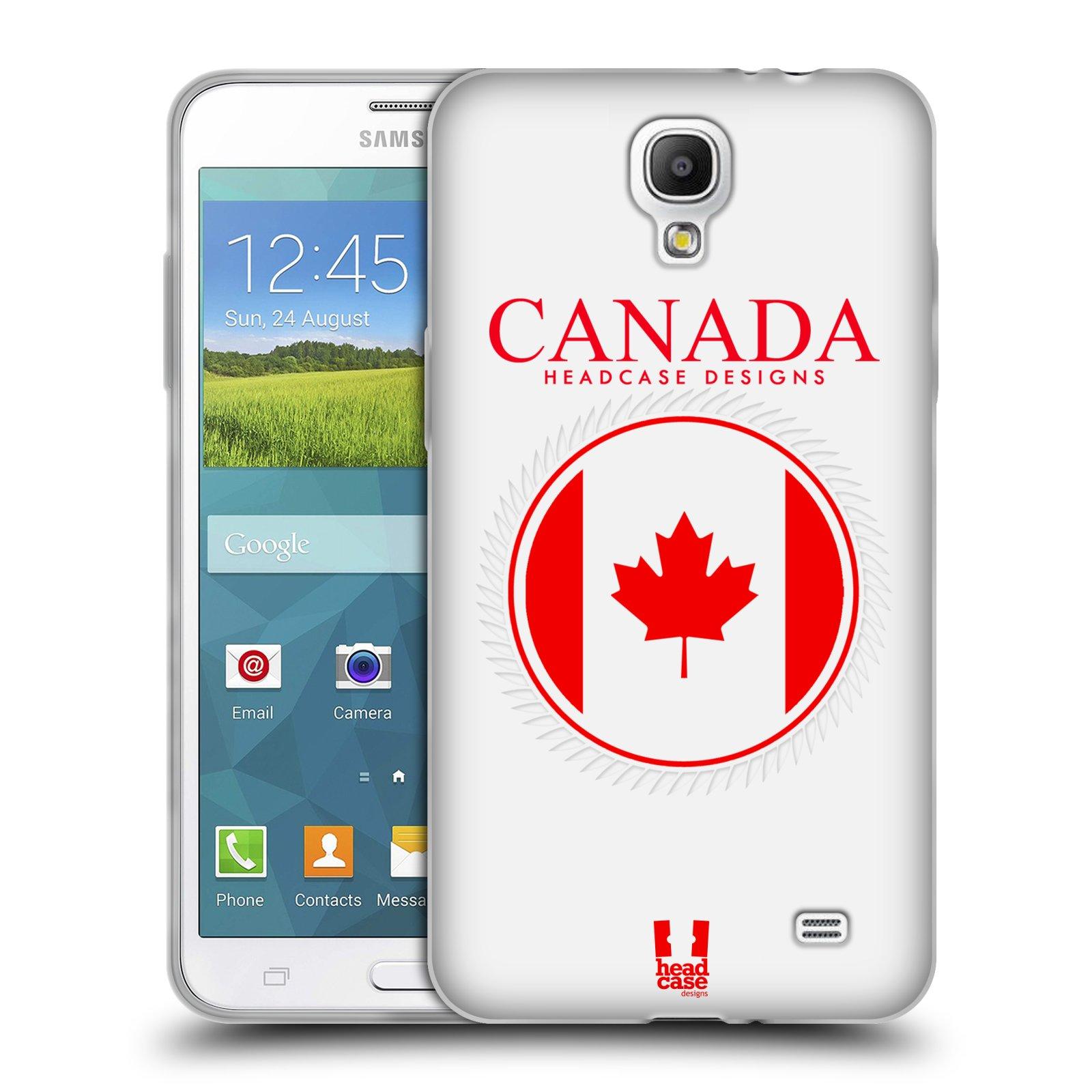 HEAD CASE silikonový obal na mobil Samsung Galaxy Mega 2 vzor Vlajky státy kreslené KANADA