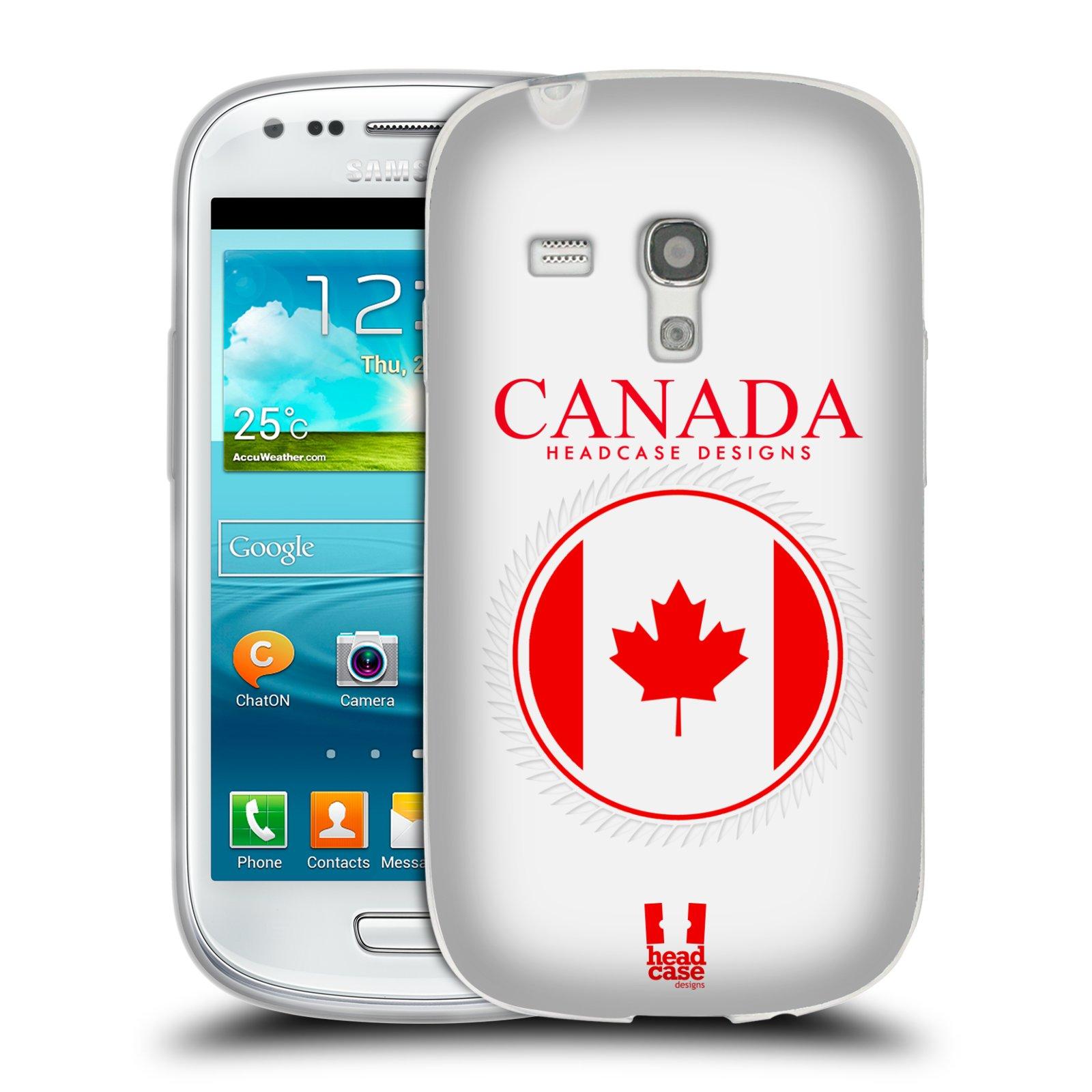 HEAD CASE silikonový obal na mobil Samsung Galaxy S3 MINI i8190 vzor Vlajky státy kreslené KANADA