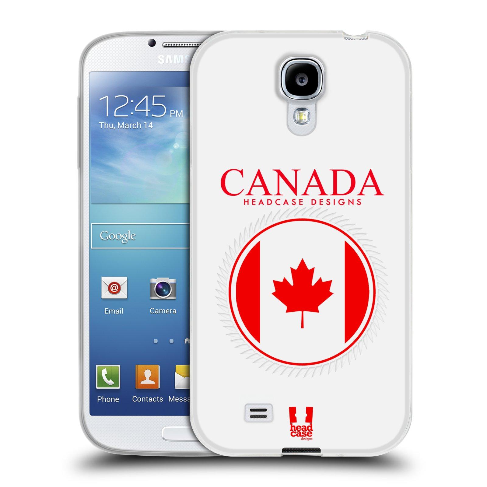 HEAD CASE silikonový obal na mobil Samsung Galaxy S4 i9500 vzor Vlajky státy kreslené KANADA