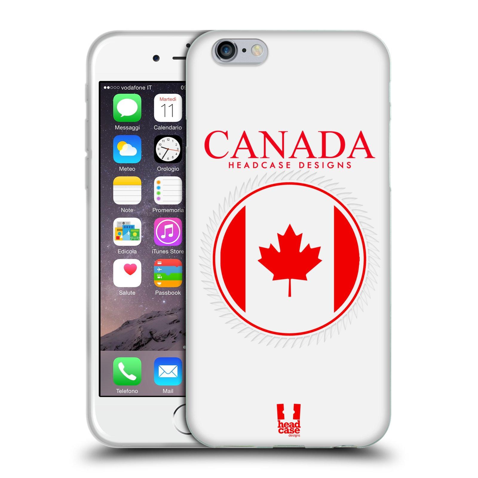 HEAD CASE silikonový obal na mobil Apple Iphone 6/6S vzor Vlajky státy kreslené KANADA