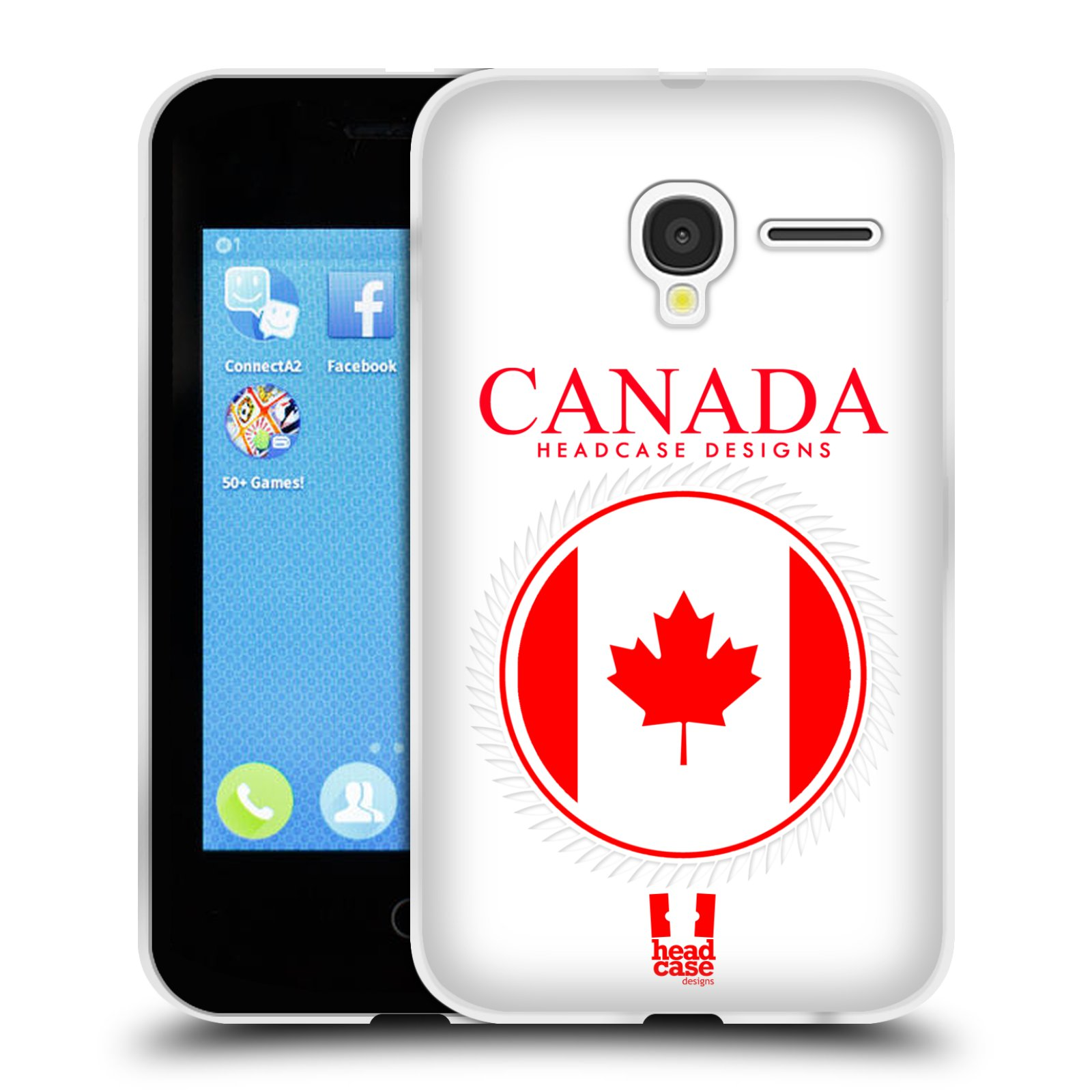 HEAD CASE silikonový obal na mobil Alcatel PIXI 3 OT-4022D (3,5 palcový displej) vzor Vlajky státy kreslené KANADA