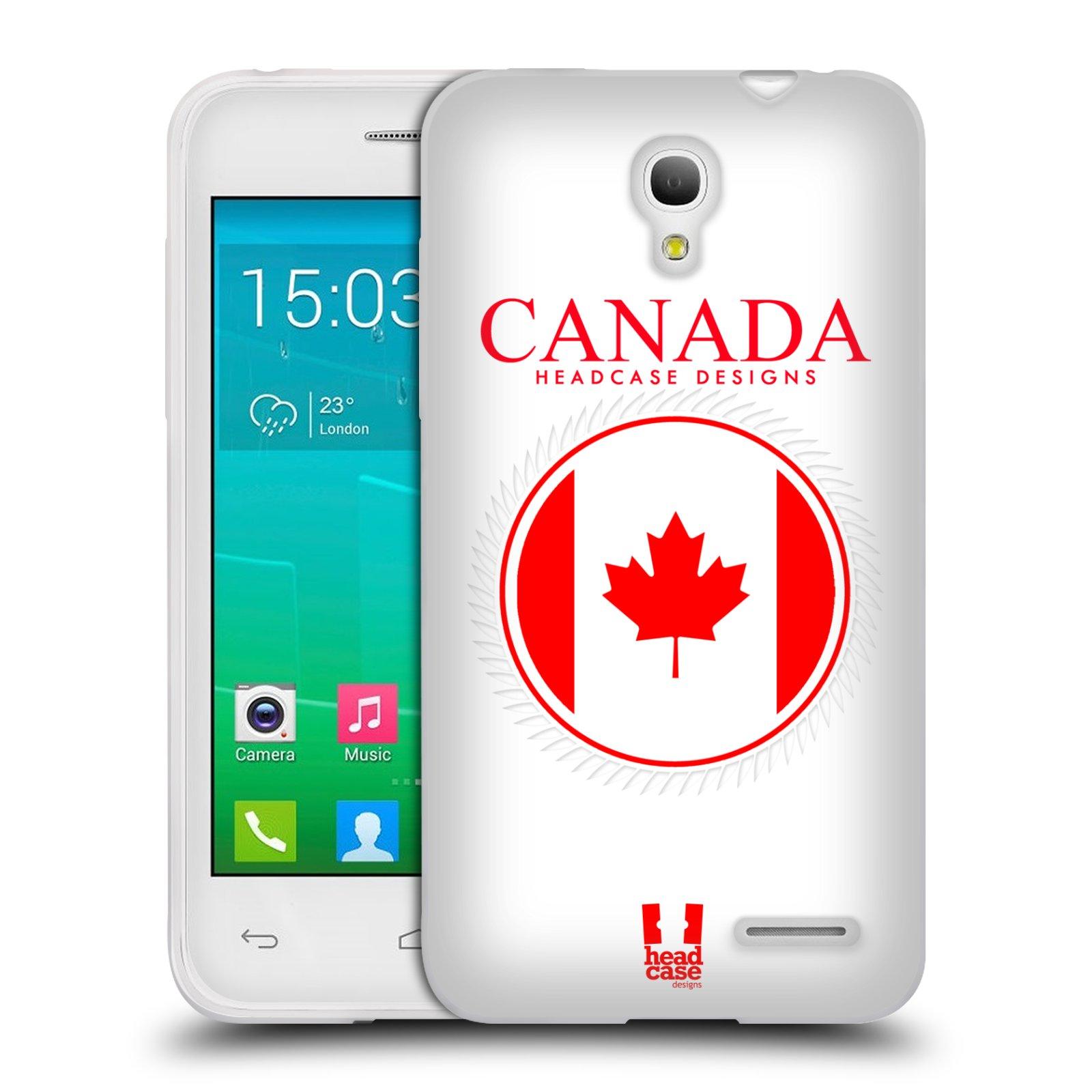 HEAD CASE silikonový obal na mobil Alcatel POP S3 OT-5050Y vzor Vlajky státy kreslené KANADA