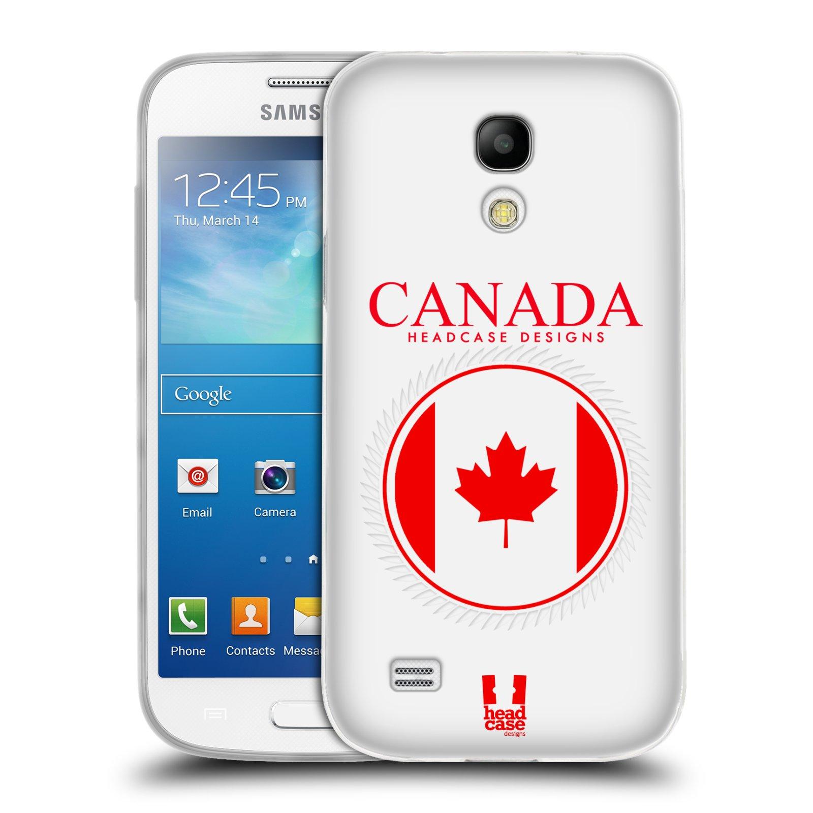 HEAD CASE silikonový obal na mobil Samsung Galaxy S4 MINI vzor Vlajky státy kreslené KANADA