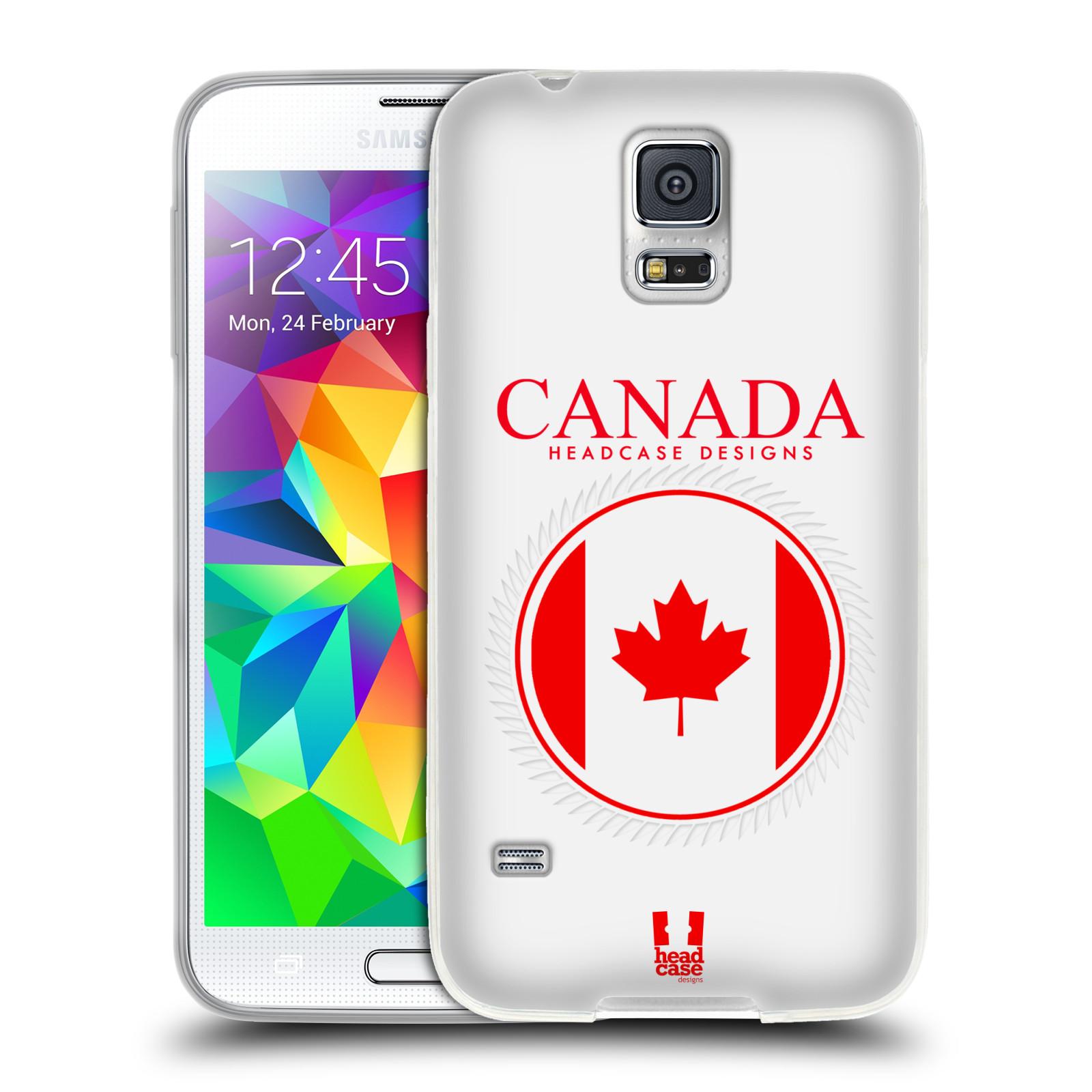 HEAD CASE silikonový obal na mobil Samsung Galaxy S5/S5 NEO vzor Vlajky státy kreslené KANADA