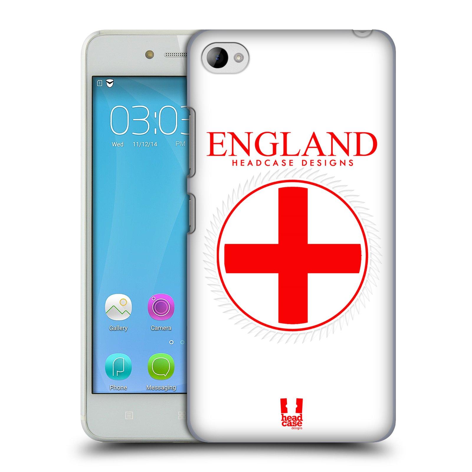 HEAD CASE pevný plastový obal na mobil LENOVO S90 vzor Vlajky státy kreslené ANGLIE