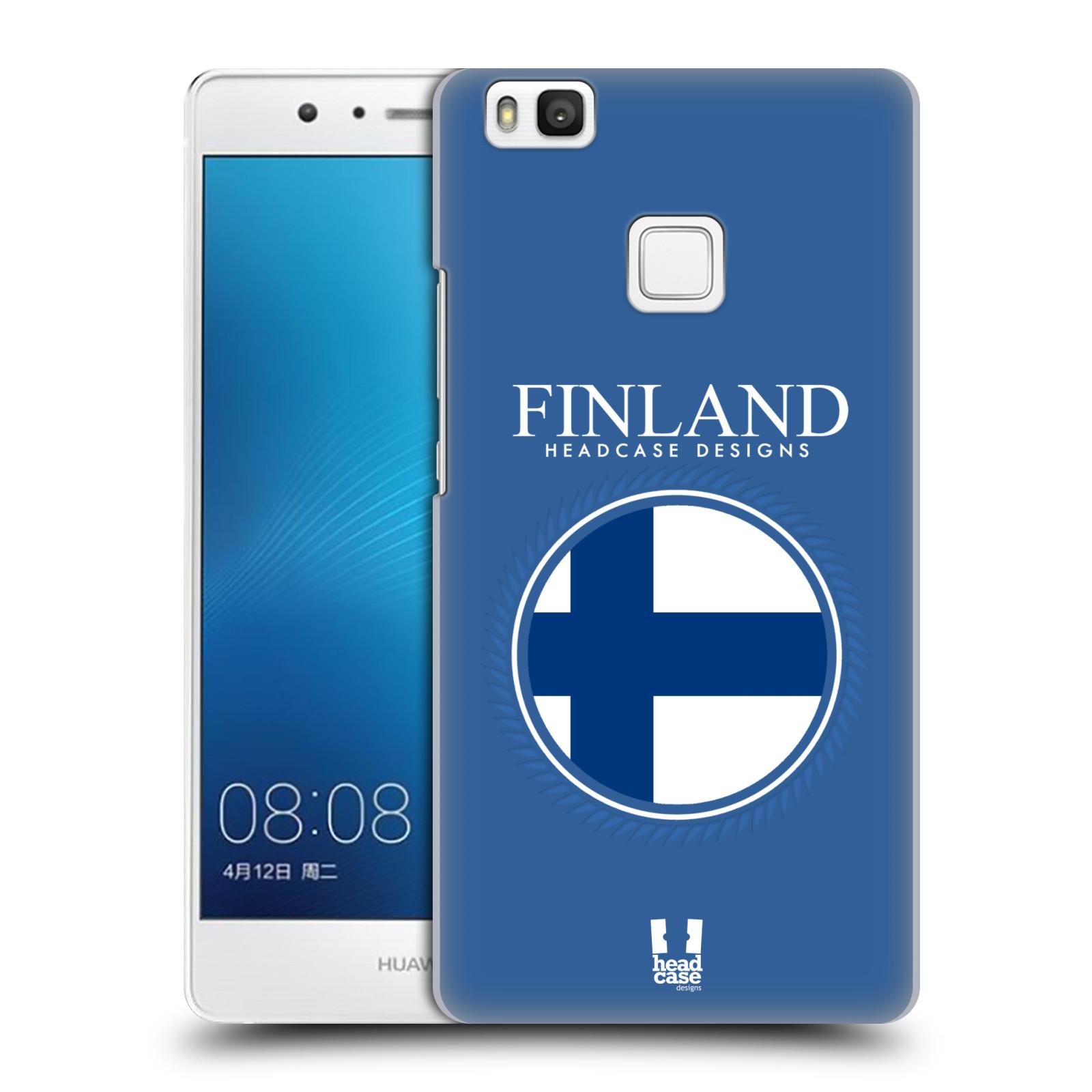 HEAD CASE plastový obal na mobil Huawei P9 LITE / P9 LITE DUAL SIM vzor Vlajky státy kreslené FINSKO MODRÁ