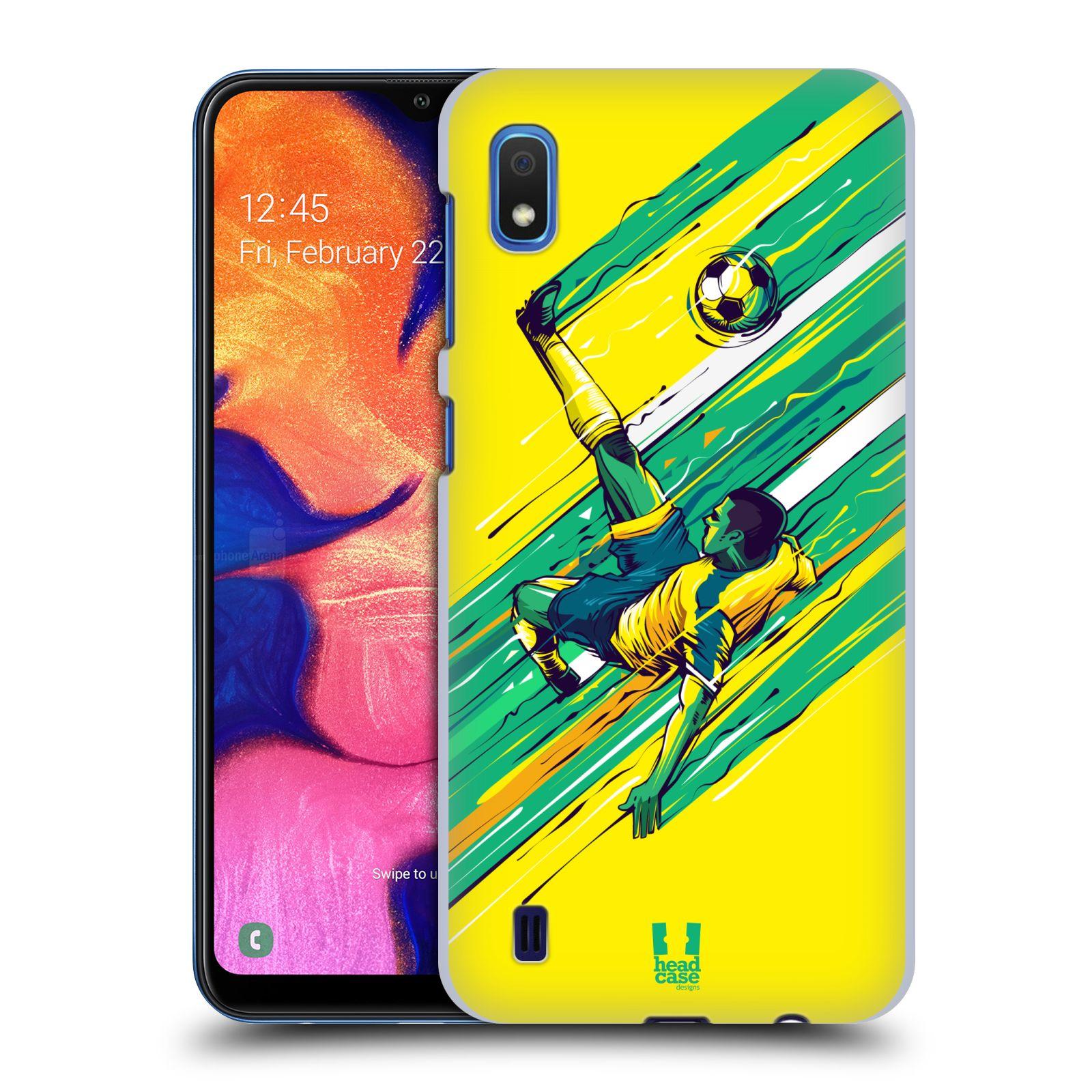 Pouzdro na mobil Samsung Galaxy A10 - HEAD CASE - Sport fotbal kreslený nůžky