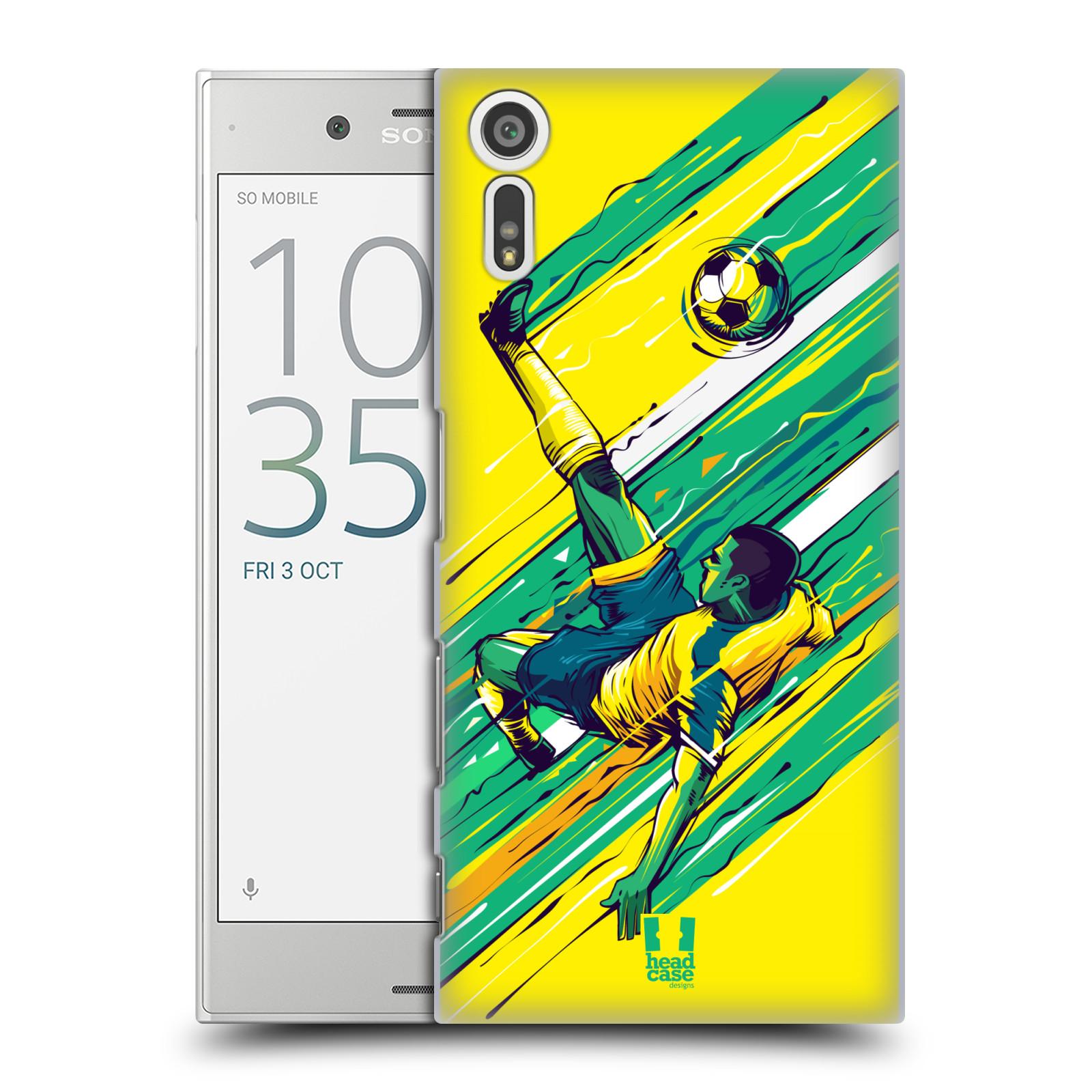 HEAD CASE plastový obal na mobil Sony Xperia XZ Sport fotbal kreslený nůžky