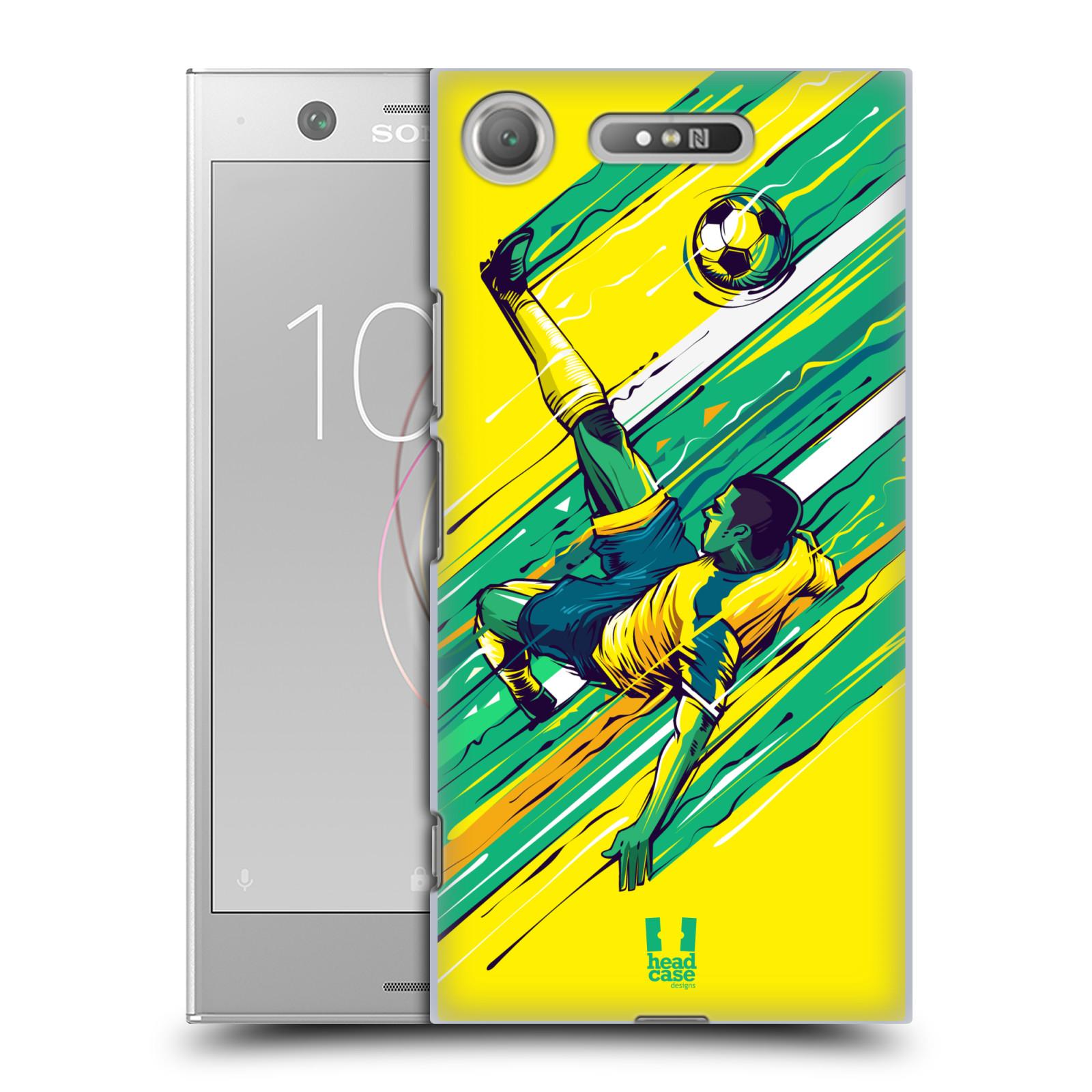 HEAD CASE plastový obal na mobil Sony Xperia XZ1 Sport fotbal kreslený nůžky