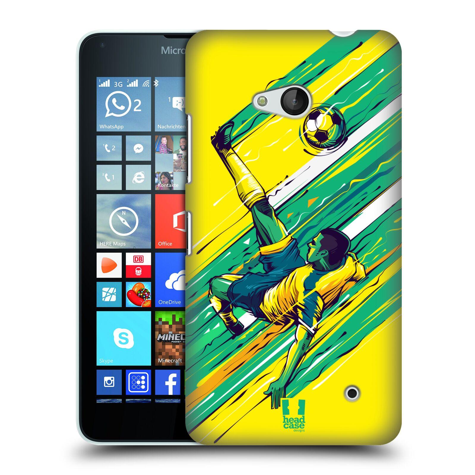 HEAD CASE plastový obal na mobil Nokia Lumia 640 Sport fotbal kreslený nůžky