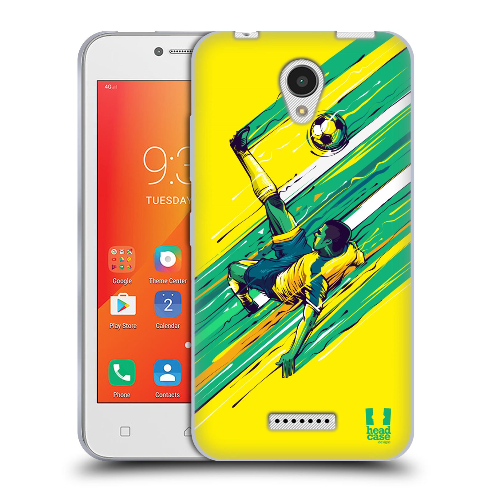 HEAD CASE silikonový obal na mobil Lenovo A PLUS Sport fotbal kreslený nůžky
