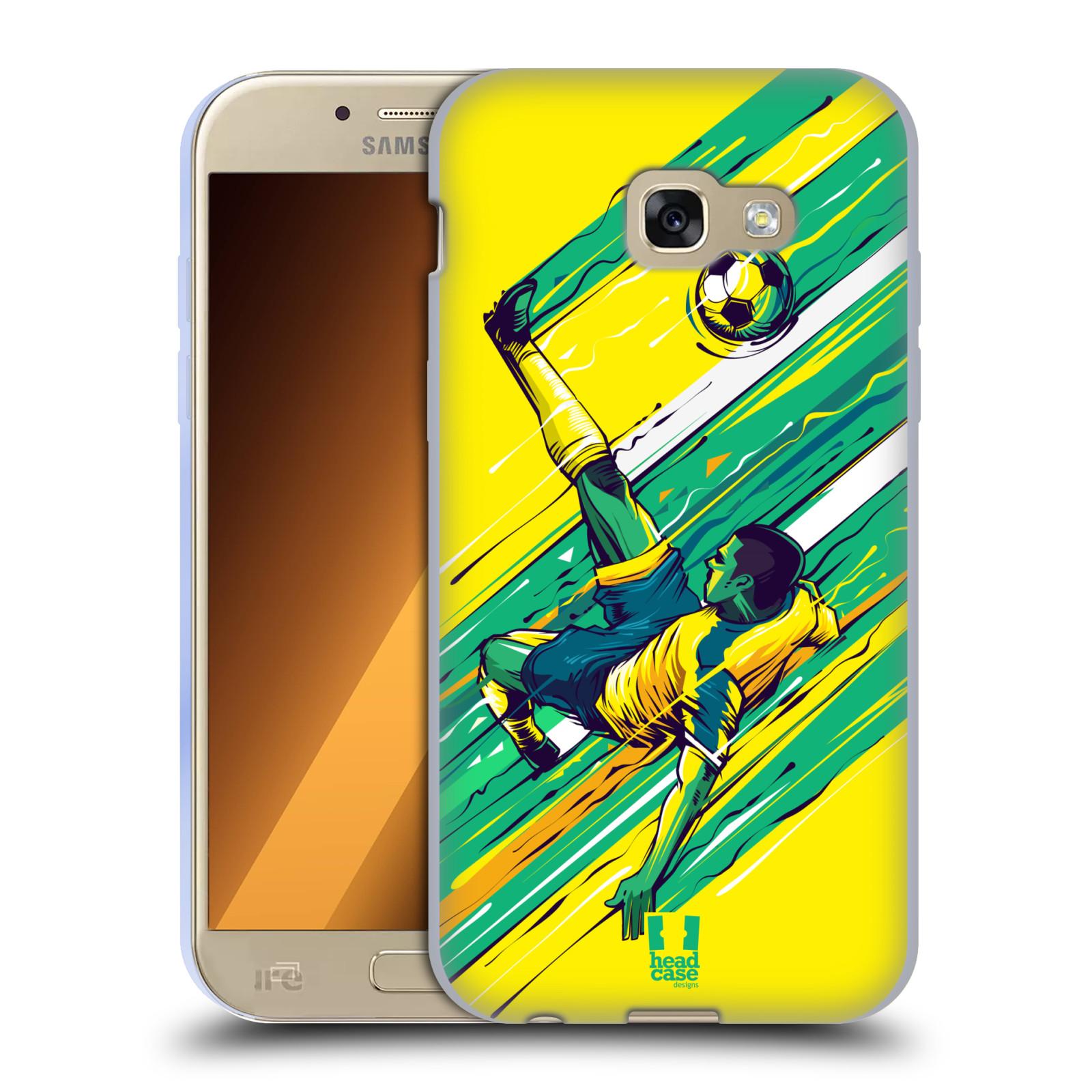 HEAD CASE silikonový obal na mobil Samsung Galaxy A5 2017 (A520) Sport fotbal kreslený nůžky
