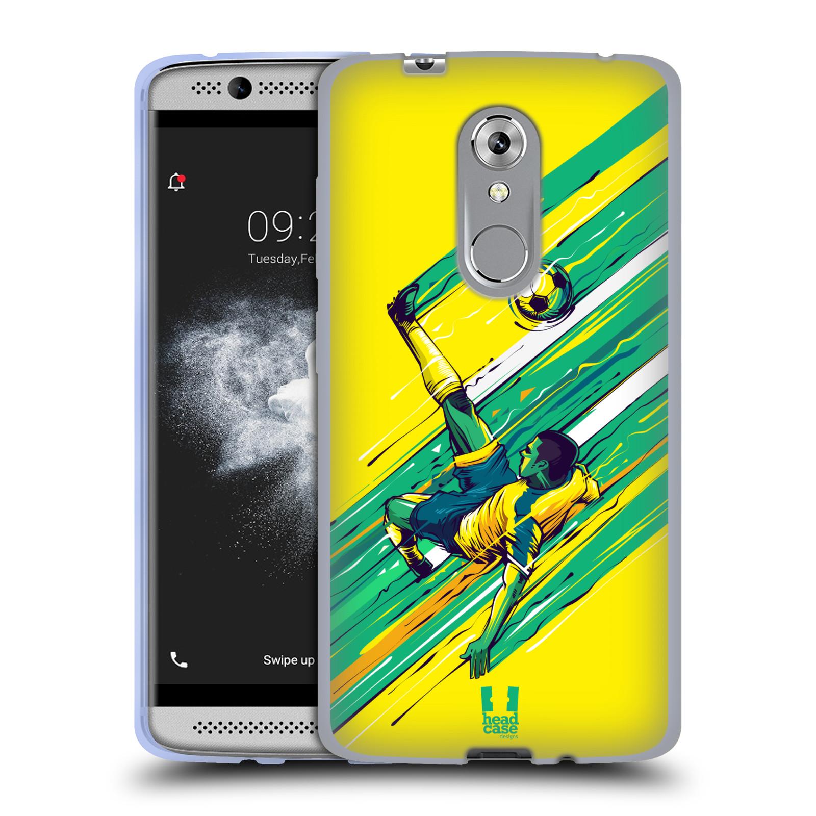 HEAD CASE silikonový obal na mobil ZTE Axon 7 MINI Sport fotbal kreslený nůžky