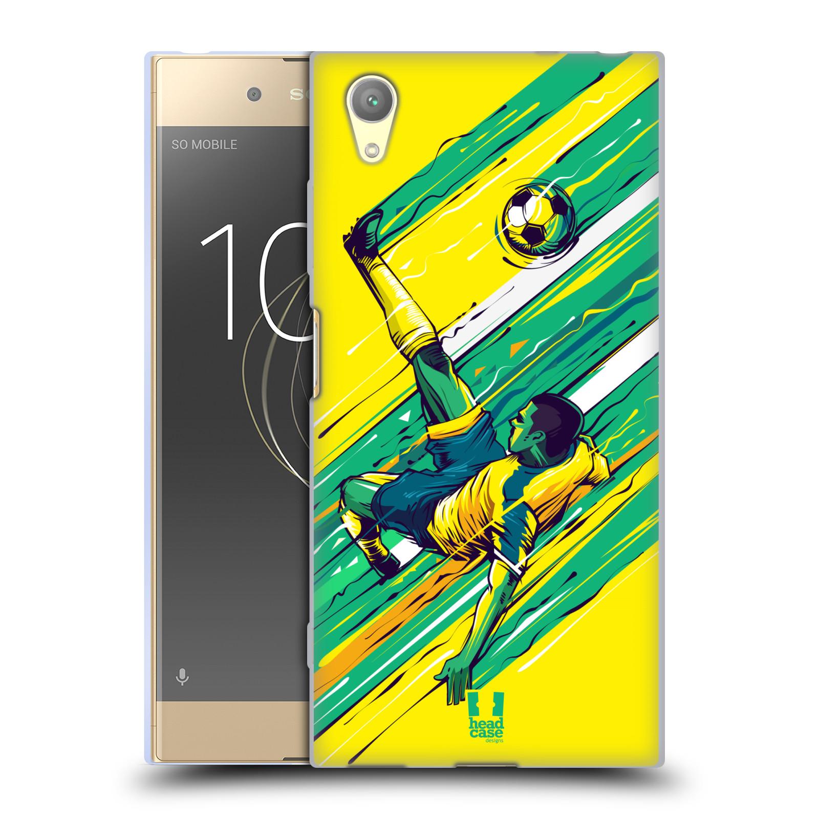 HEAD CASE silikonový obal na mobil Sony Xperia XA1 PLUS Sport fotbal kreslený nůžky