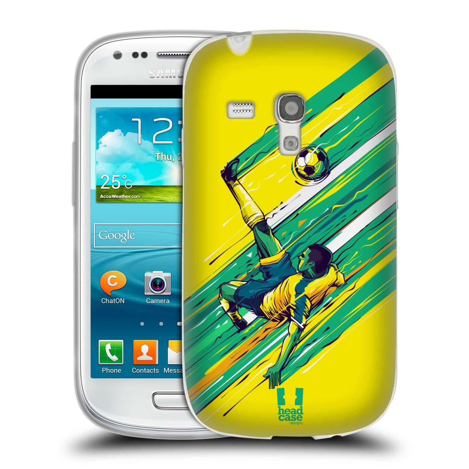 HEAD CASE silikonový obal na mobil Samsung Galaxy S3 MINI Sport fotbal kreslený nůžky