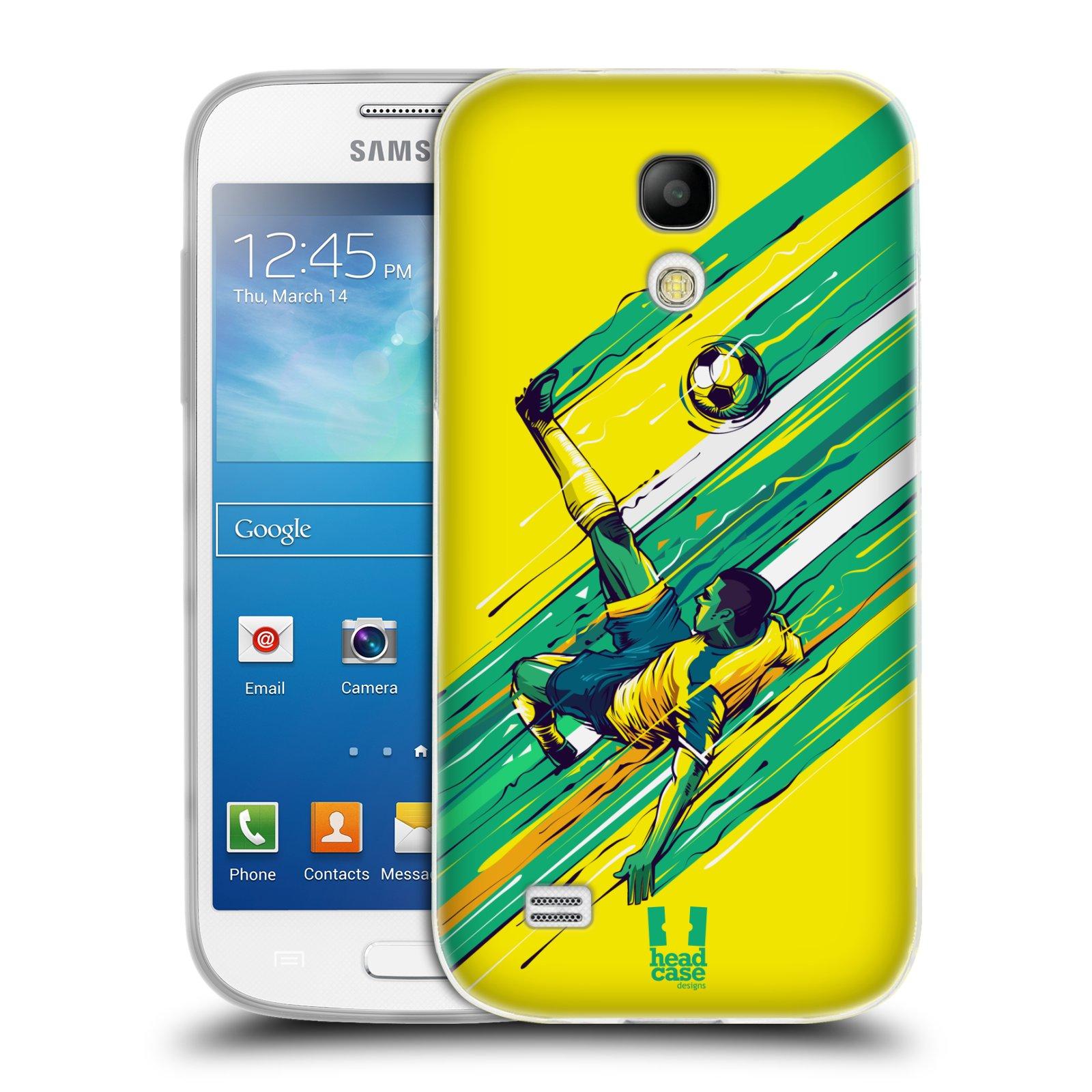 HEAD CASE silikonový obal na mobil Samsung Galaxy S4 MINI Sport fotbal kreslený nůžky
