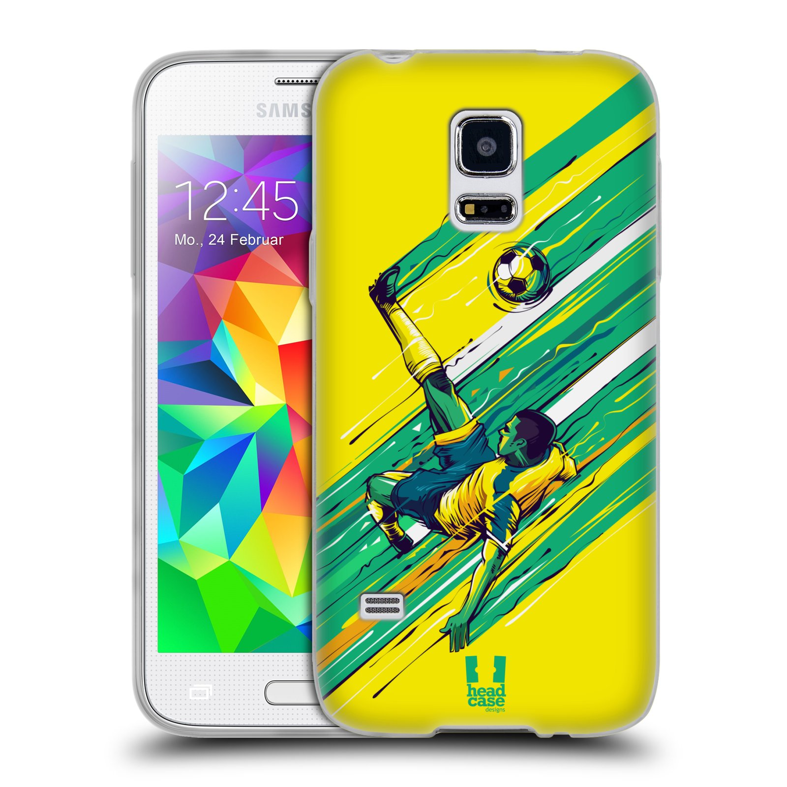 HEAD CASE silikonový obal na mobil Samsung Galaxy S5 MINI Sport fotbal kreslený nůžky