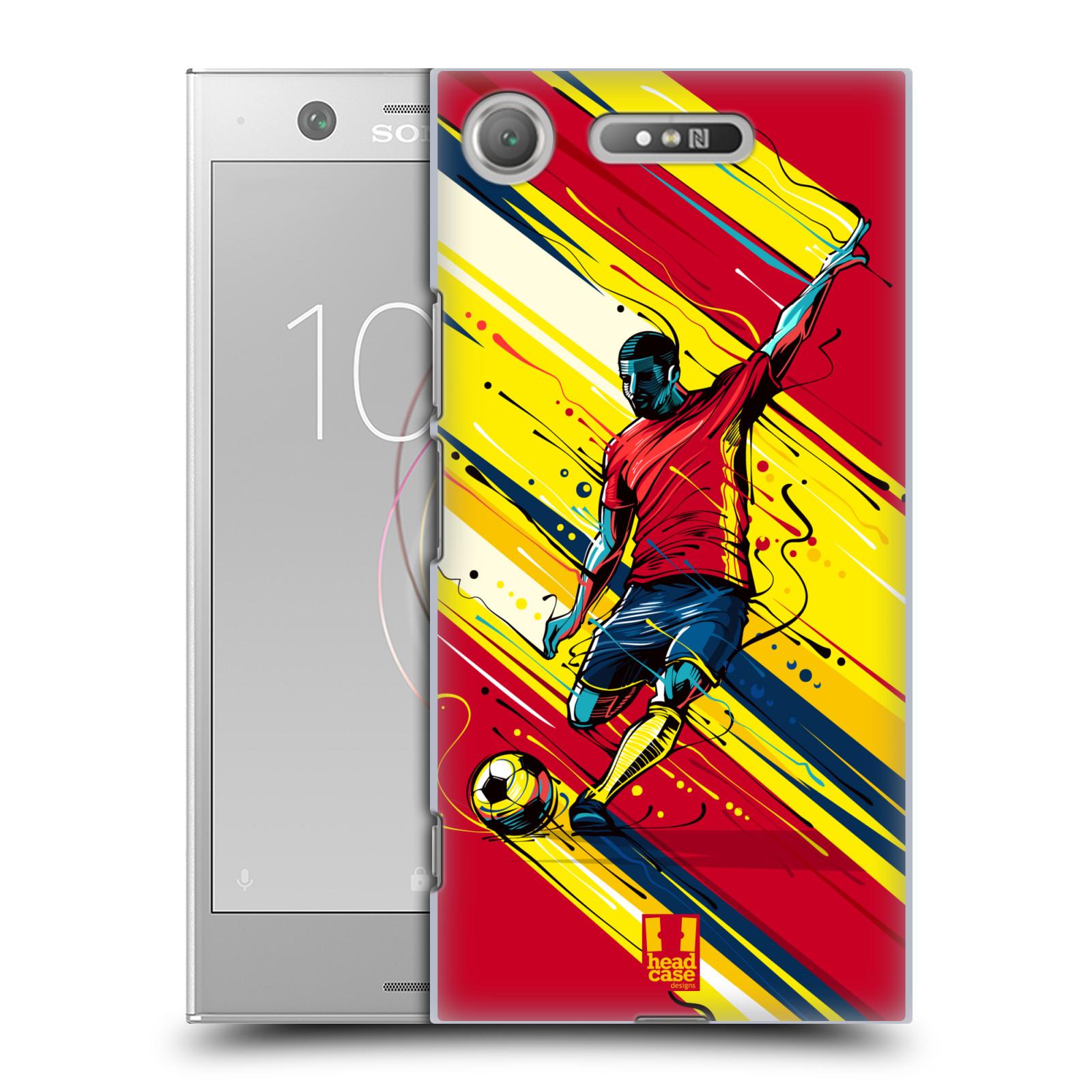HEAD CASE plastový obal na mobil Sony Xperia XZ1 Sport fotbal střela do brány