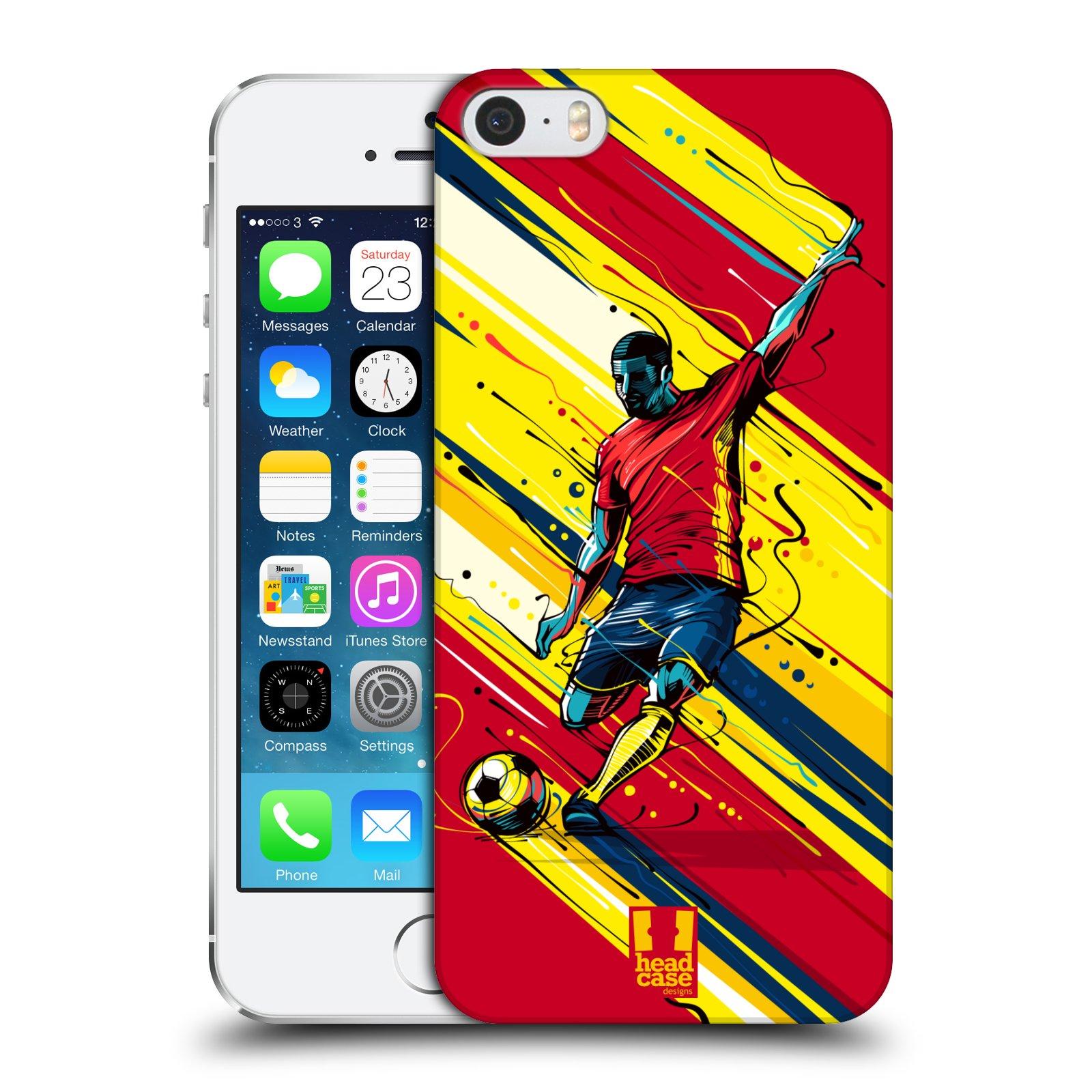 Plastové pouzdro pro mobil Apple Iphone 5 / 5S / SE Sport fotbal střela do brány