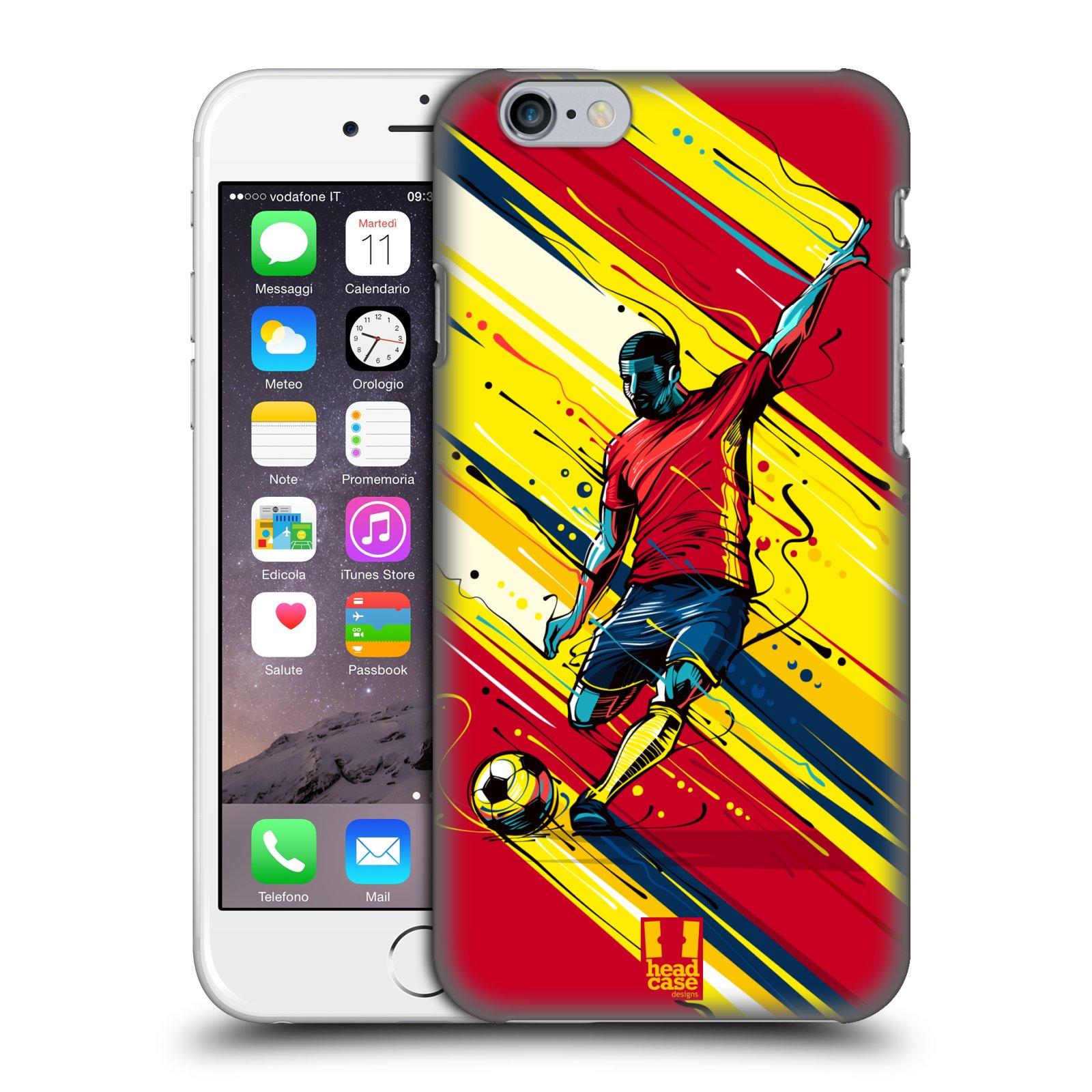 Plastové pouzdro pro mobil Apple Iphone 6/6S Sport fotbal střela do brány