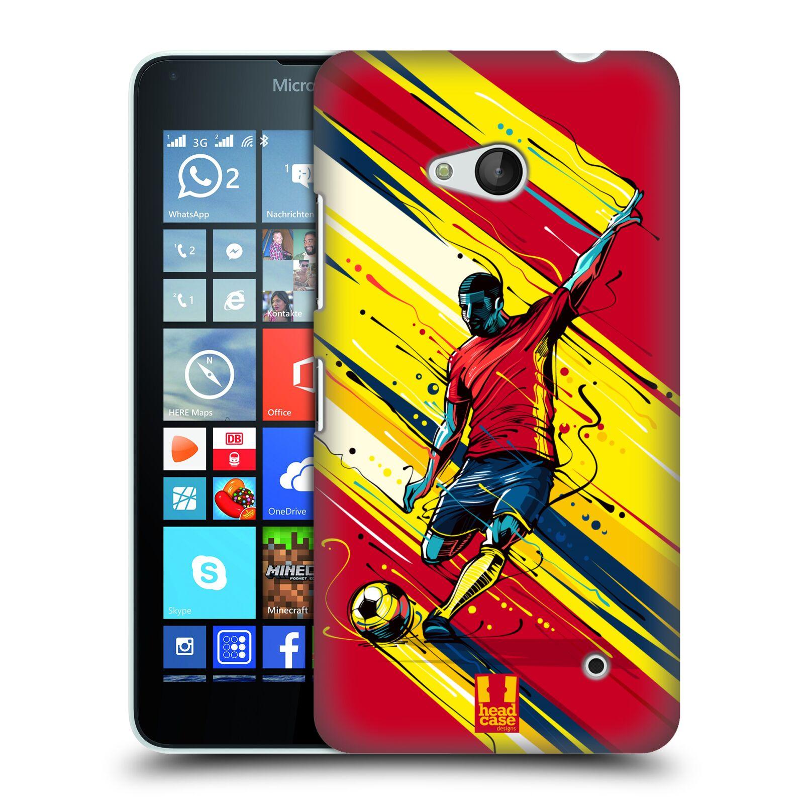 HEAD CASE plastový obal na mobil Nokia Lumia 640 Sport fotbal střela do brány