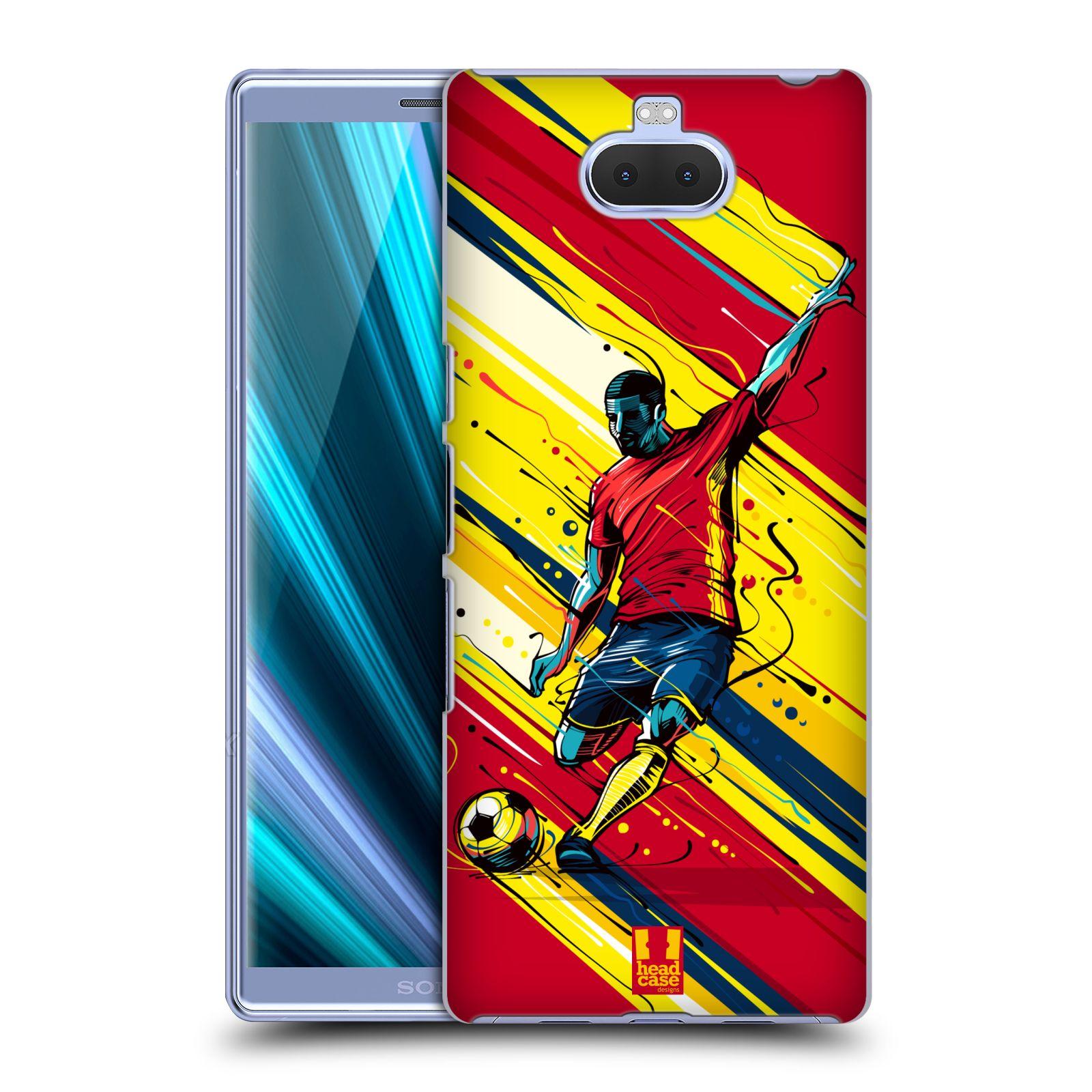Pouzdro na mobil Sony Xperia 10 Plus - Head Case - Sport fotbal střela do brány