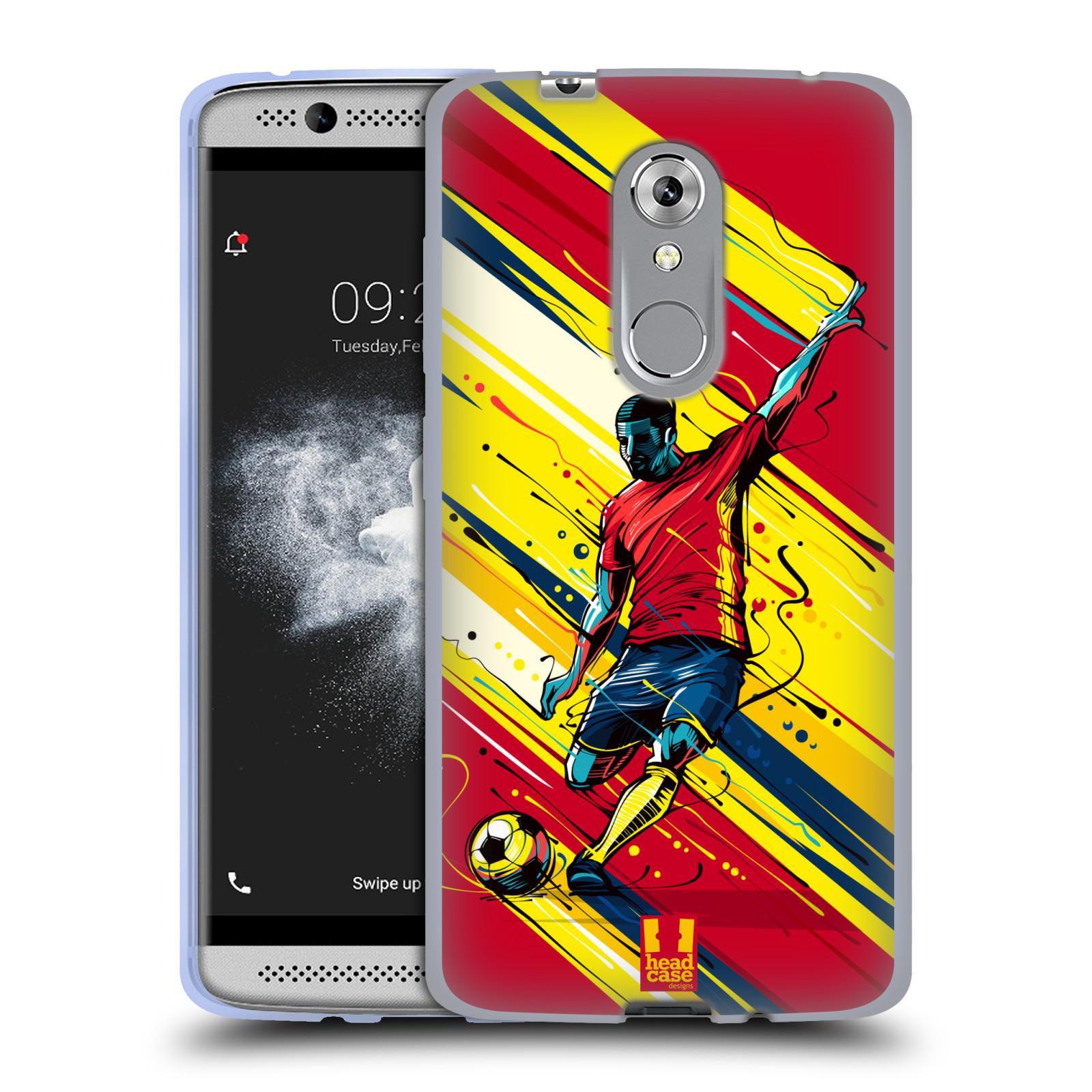 HEAD CASE silikonový obal na mobil ZTE Axon 7 MINI Sport fotbal střela do brány
