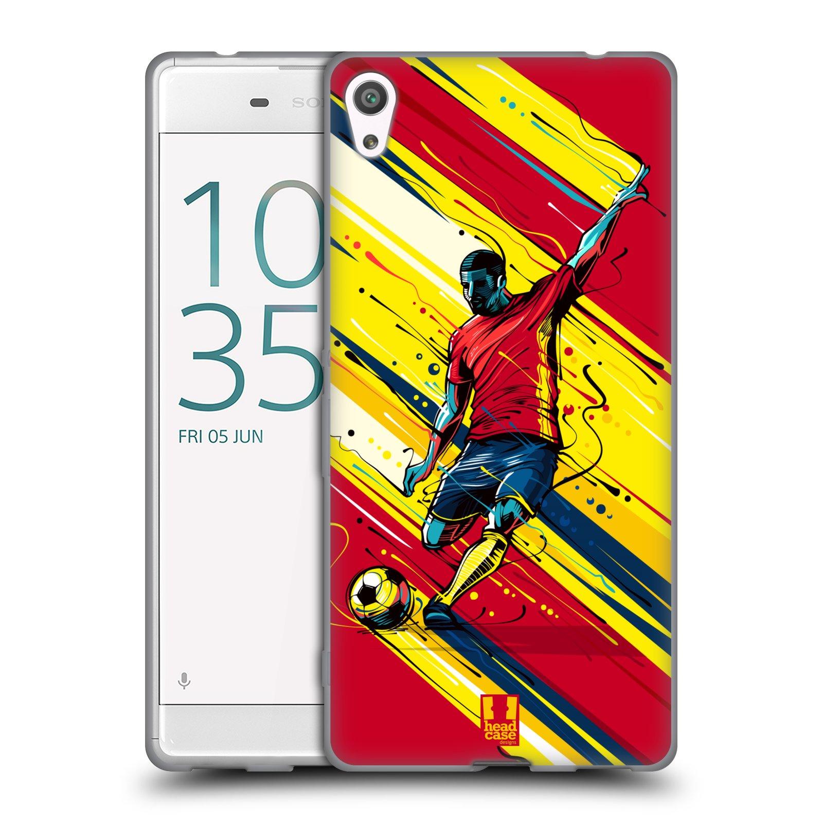 HEAD CASE silikonový obal na mobil Sony Xperia XA ULTRA Sport fotbal střela do brány
