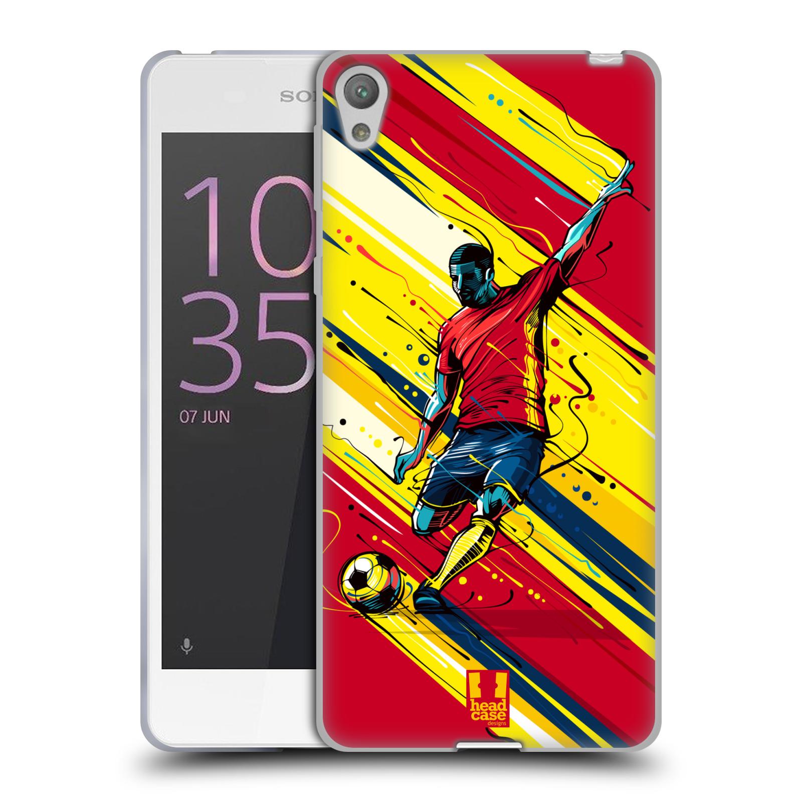HEAD CASE silikonový obal na mobil Sony Xperia E5 Sport fotbal střela do brány