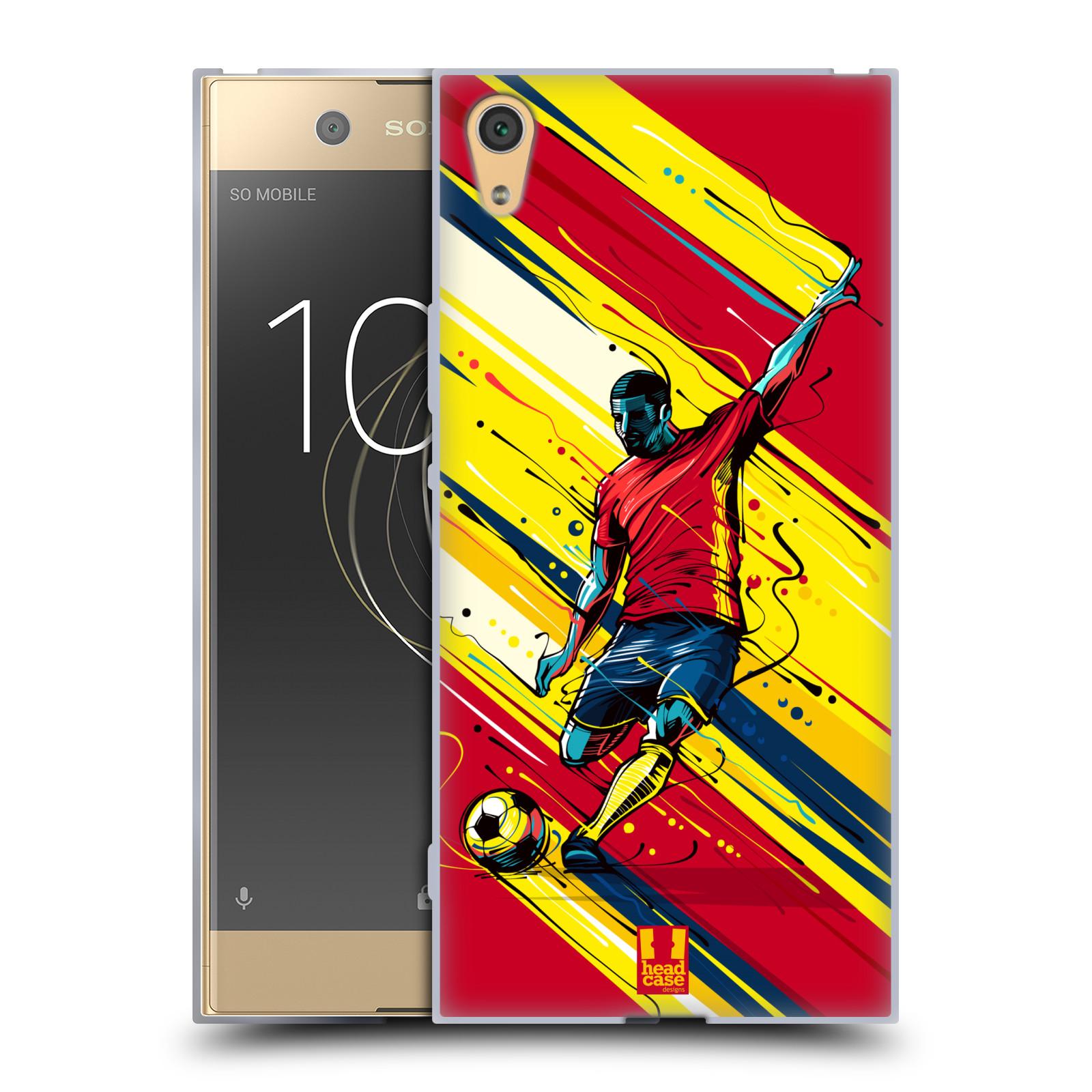 HEAD CASE silikonový obal na mobil Sony Xperia XA1 ULTRA Sport fotbal střela do brány