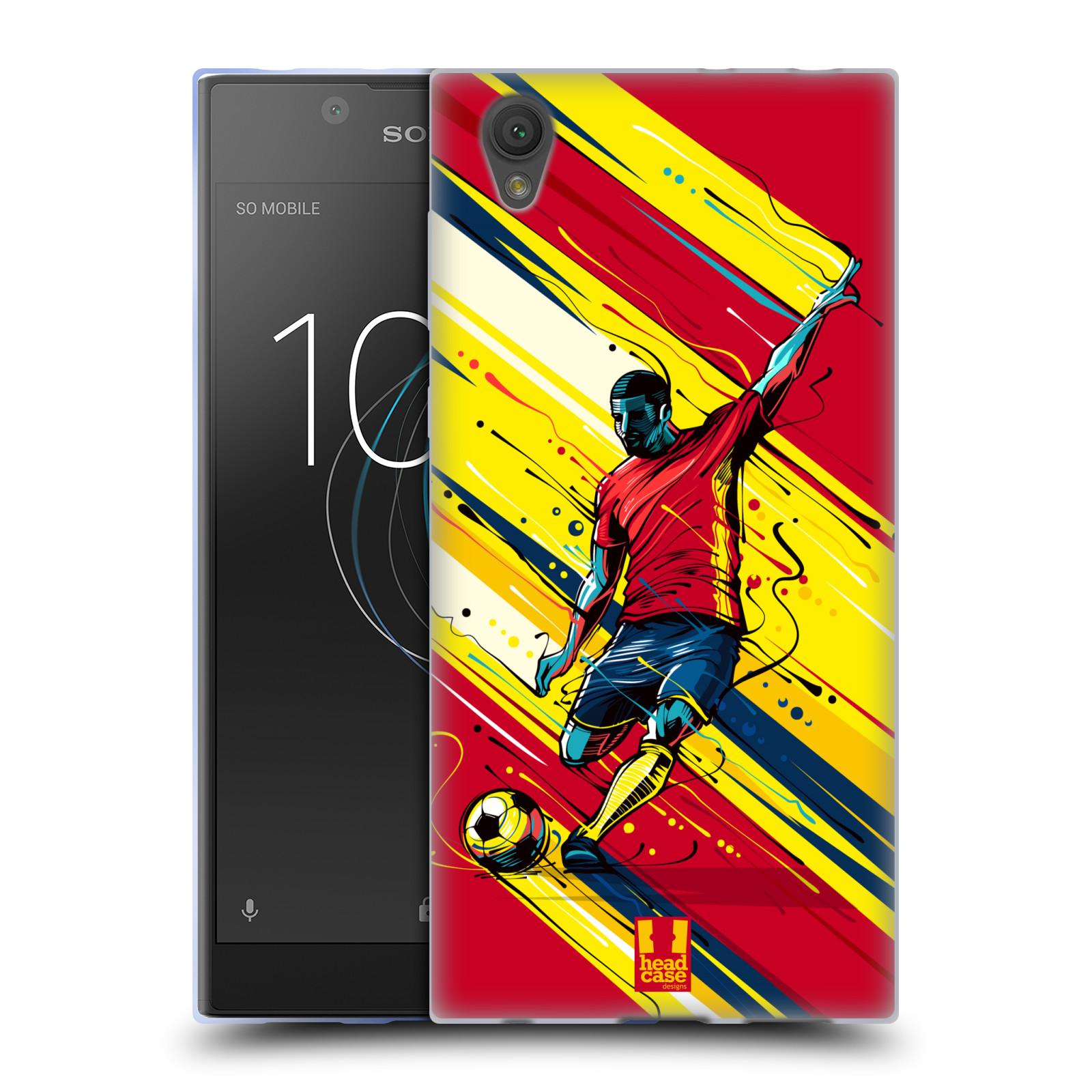 HEAD CASE silikonový obal na mobil Sony Xperia L1 Sport fotbal střela do brány