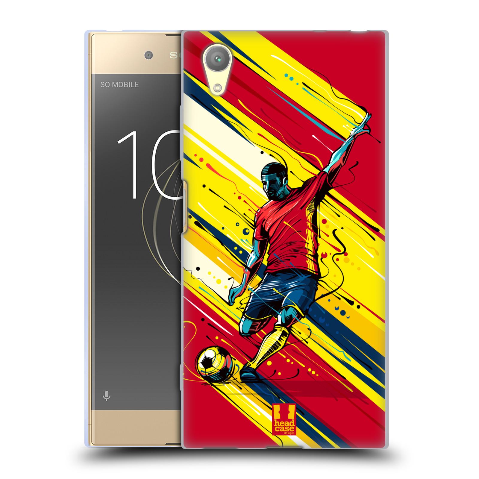 HEAD CASE silikonový obal na mobil Sony Xperia XA1 PLUS Sport fotbal střela do brány