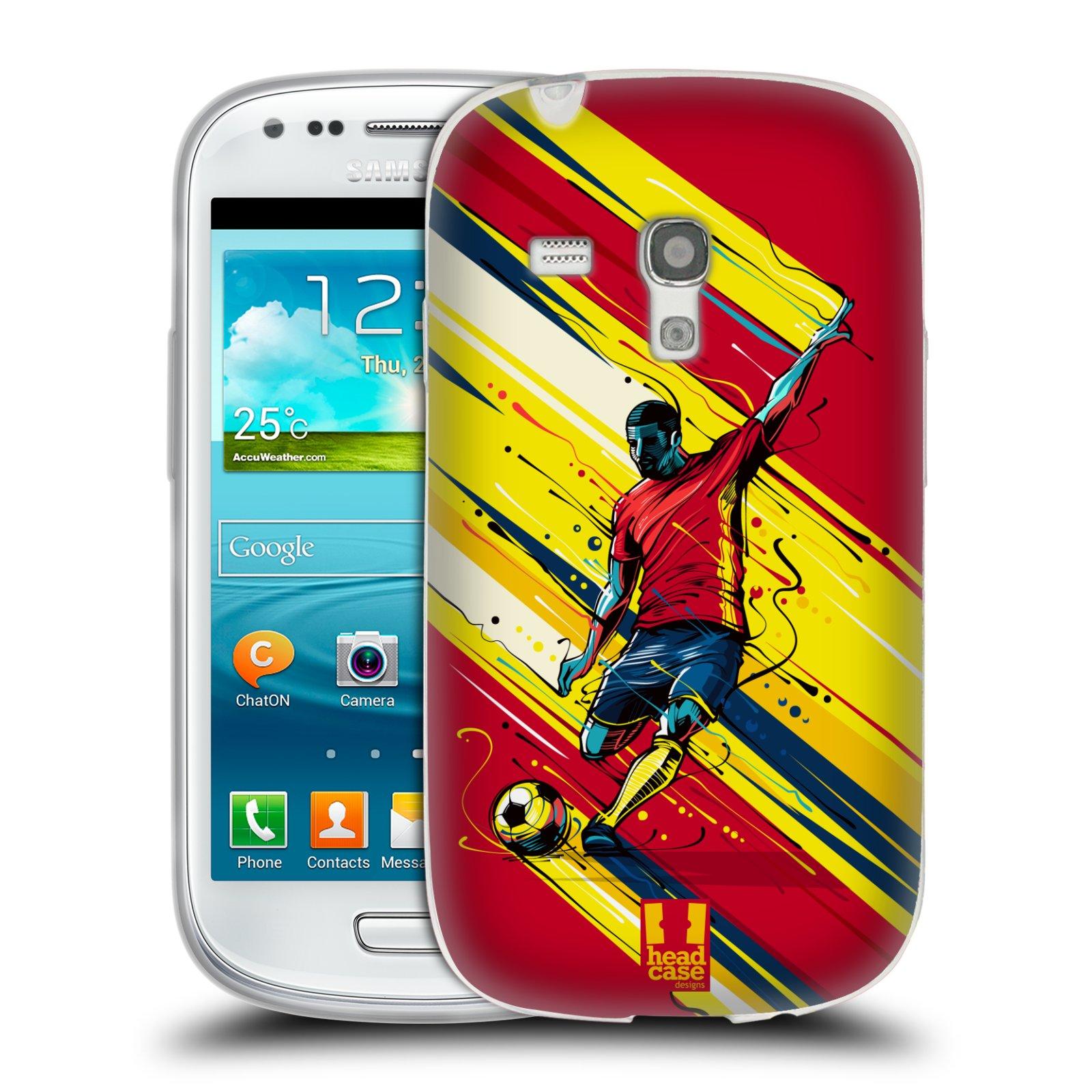 HEAD CASE silikonový obal na mobil Samsung Galaxy S3 MINI Sport fotbal střela do brány