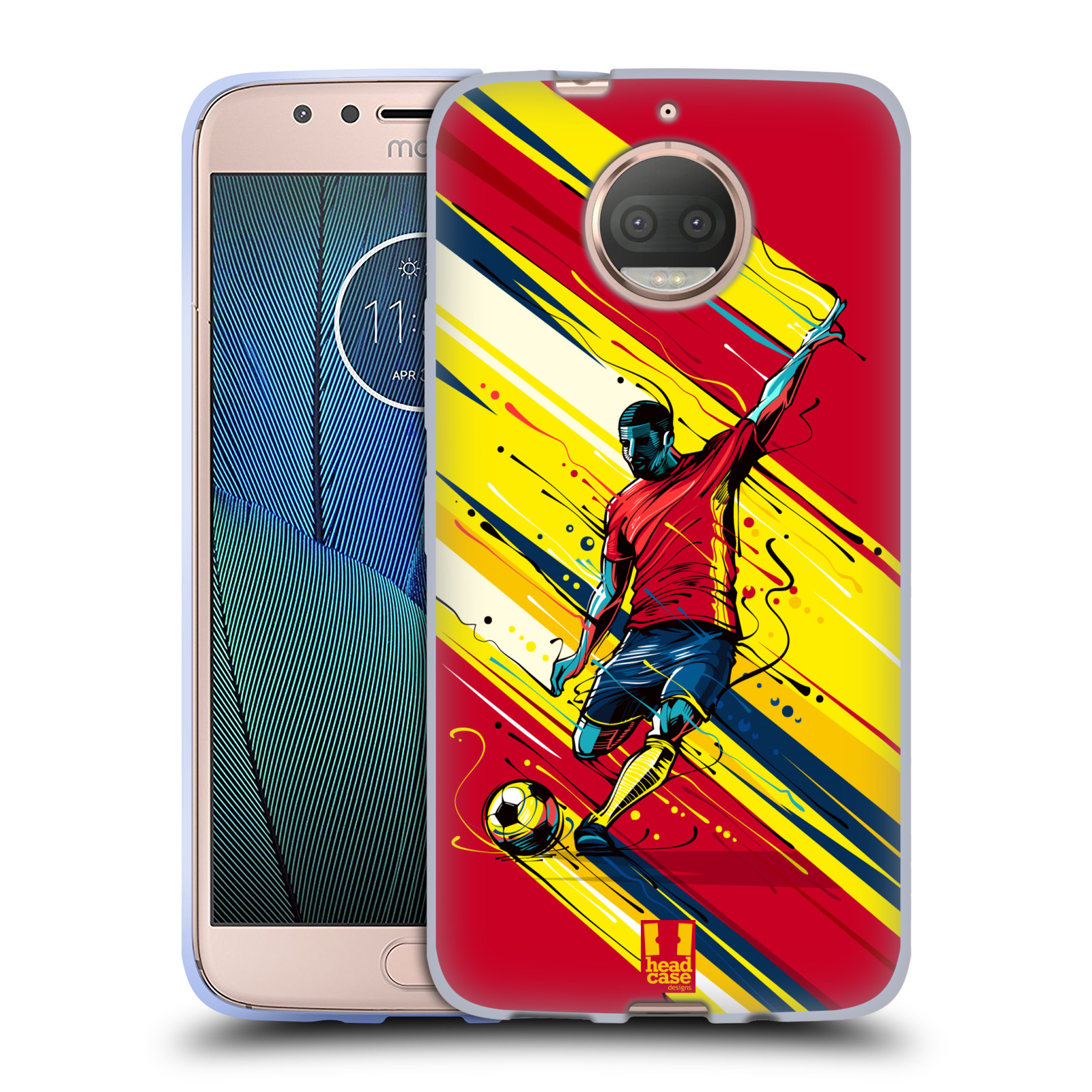 HEAD CASE silikonový obal na mobil Lenovo Moto G5s PLUS Sport fotbal střela do brány