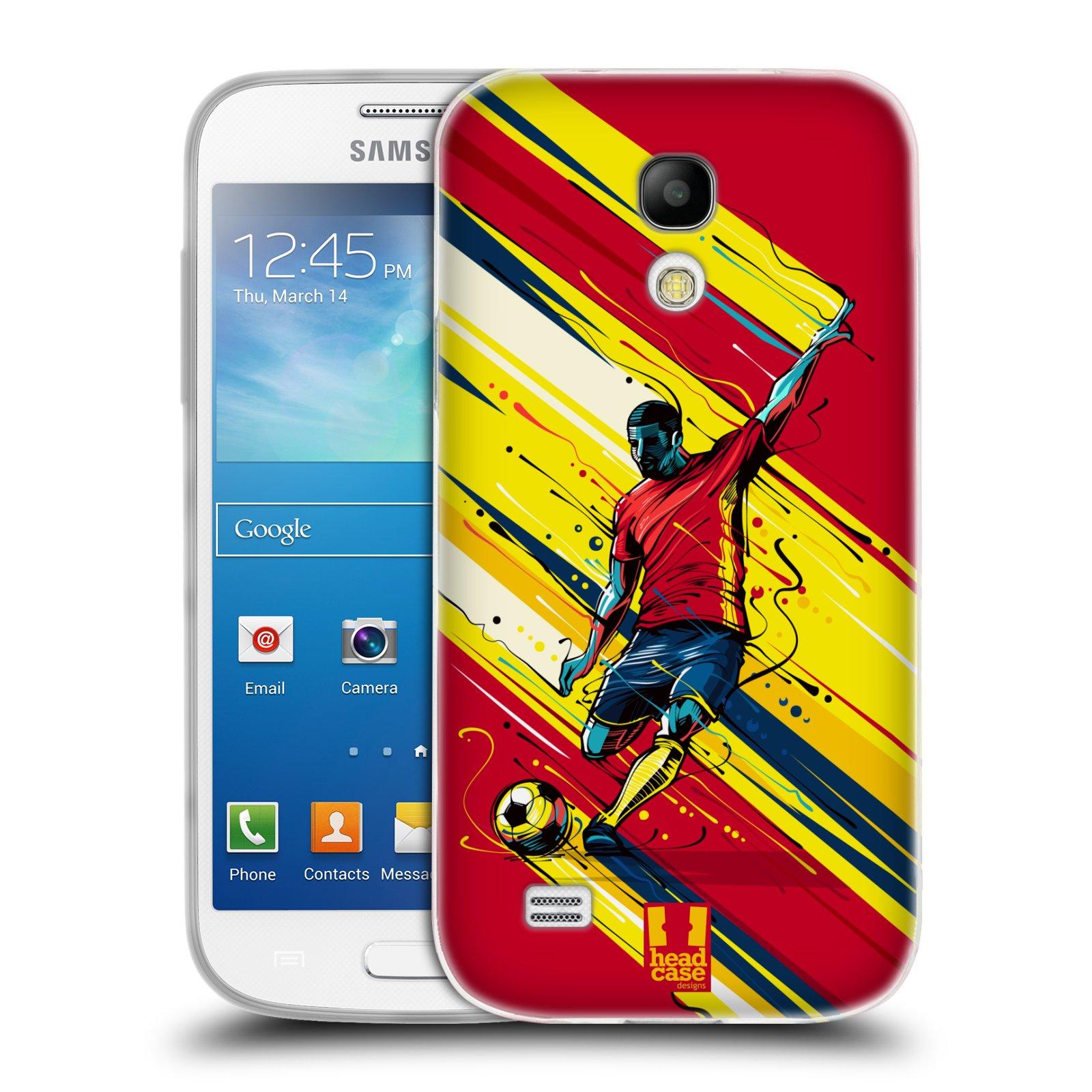 HEAD CASE silikonový obal na mobil Samsung Galaxy S4 MINI Sport fotbal střela do brány
