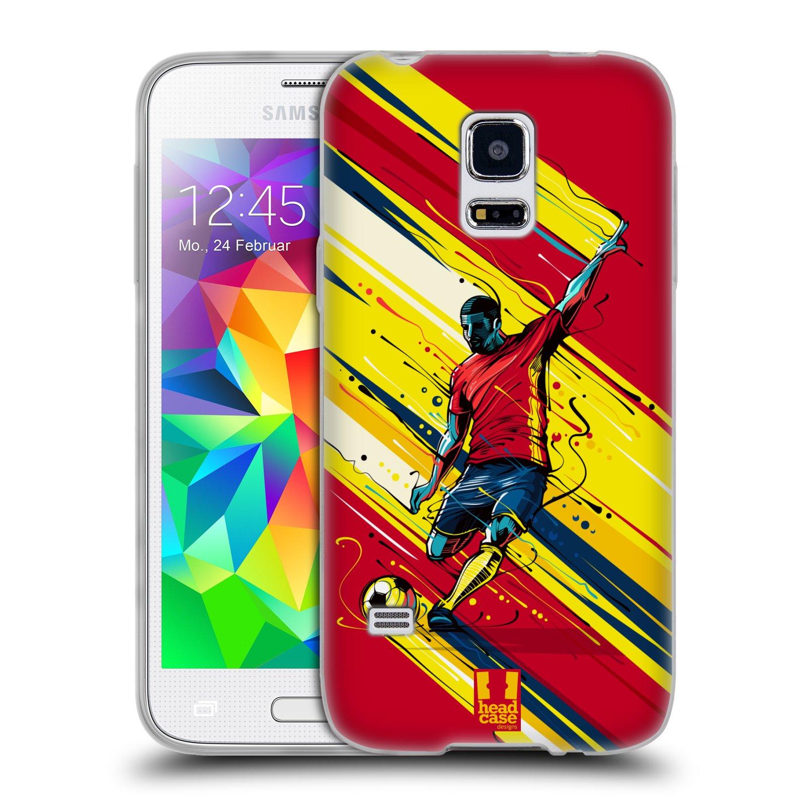 HEAD CASE silikonový obal na mobil Samsung Galaxy S5 MINI Sport fotbal střela do brány
