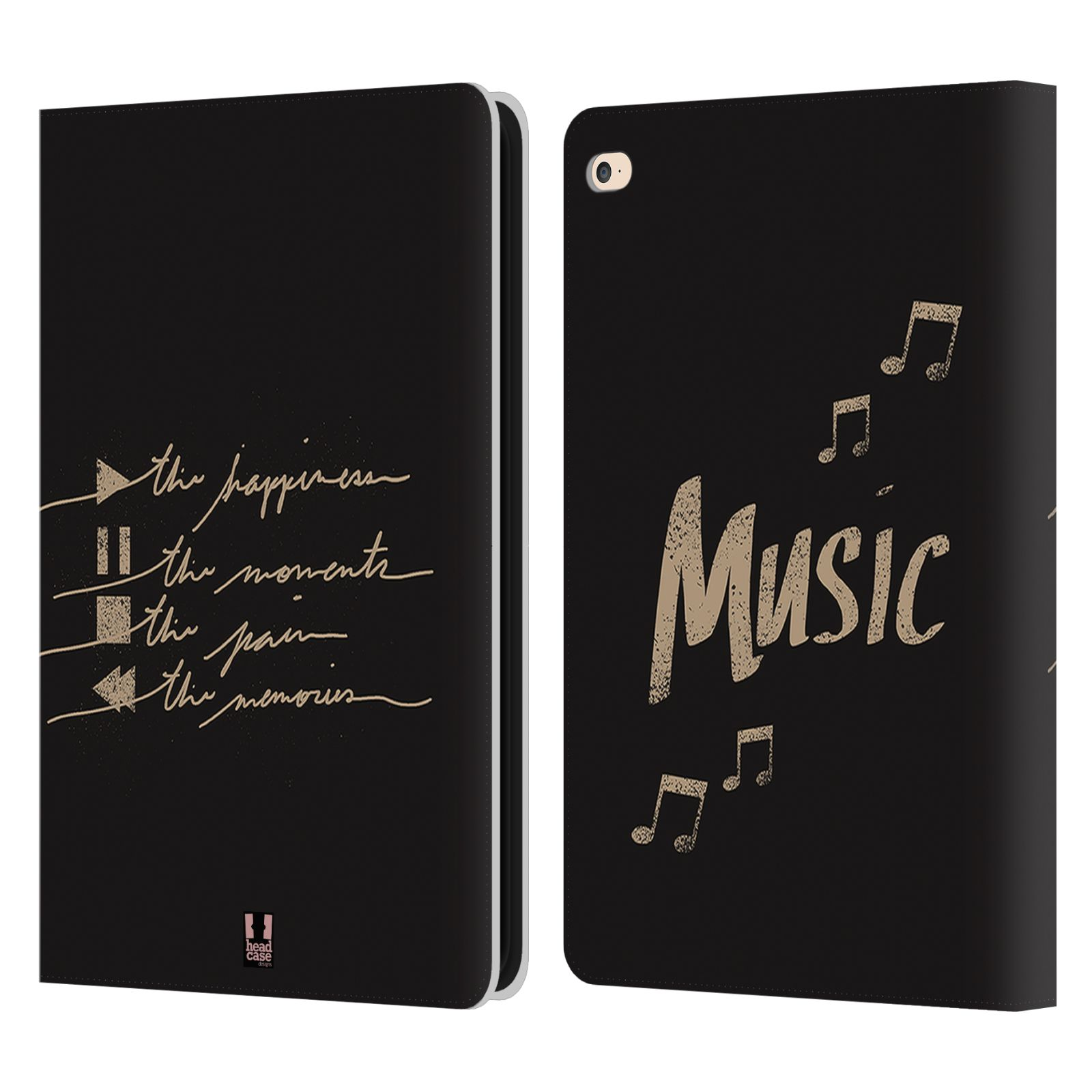 Head case designs all about music leather book wallet case for Apple design book